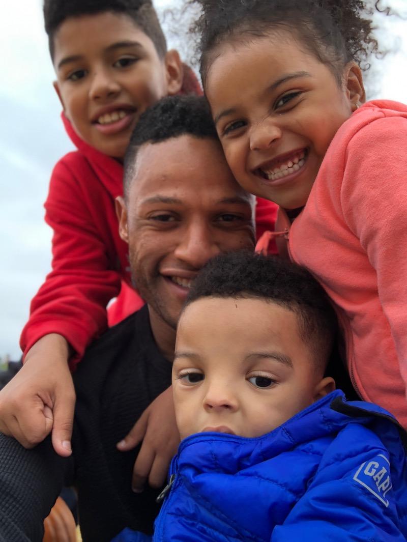 Armond and his kids, Armond Jr. 10, Bianca 4 and Alijah 2