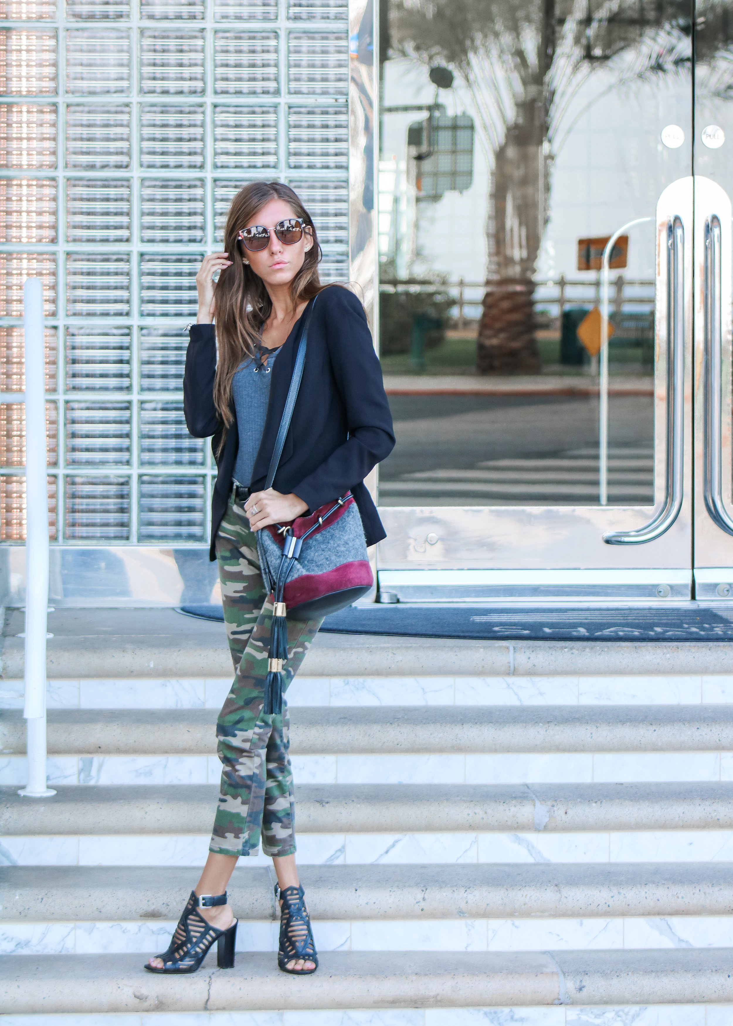 The Hungarian Brunette OOTD camo pants city look