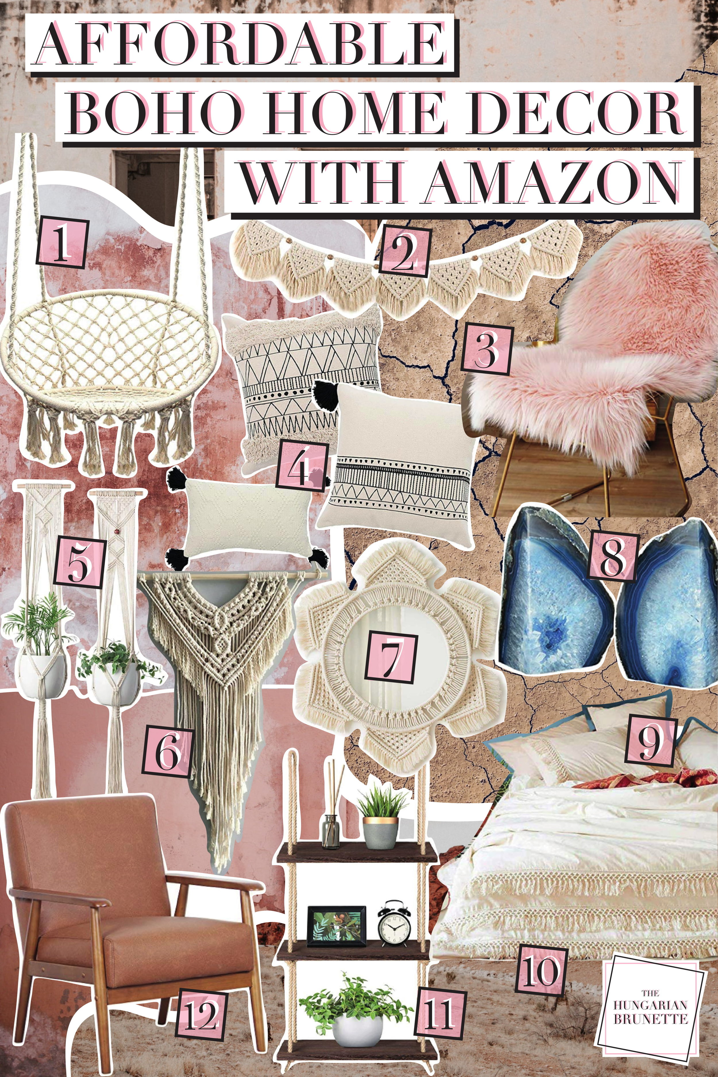 THE HUNGARIAN BRUNETTE AFFORDABLE BOHO HOME DECOR WITH AMAZON