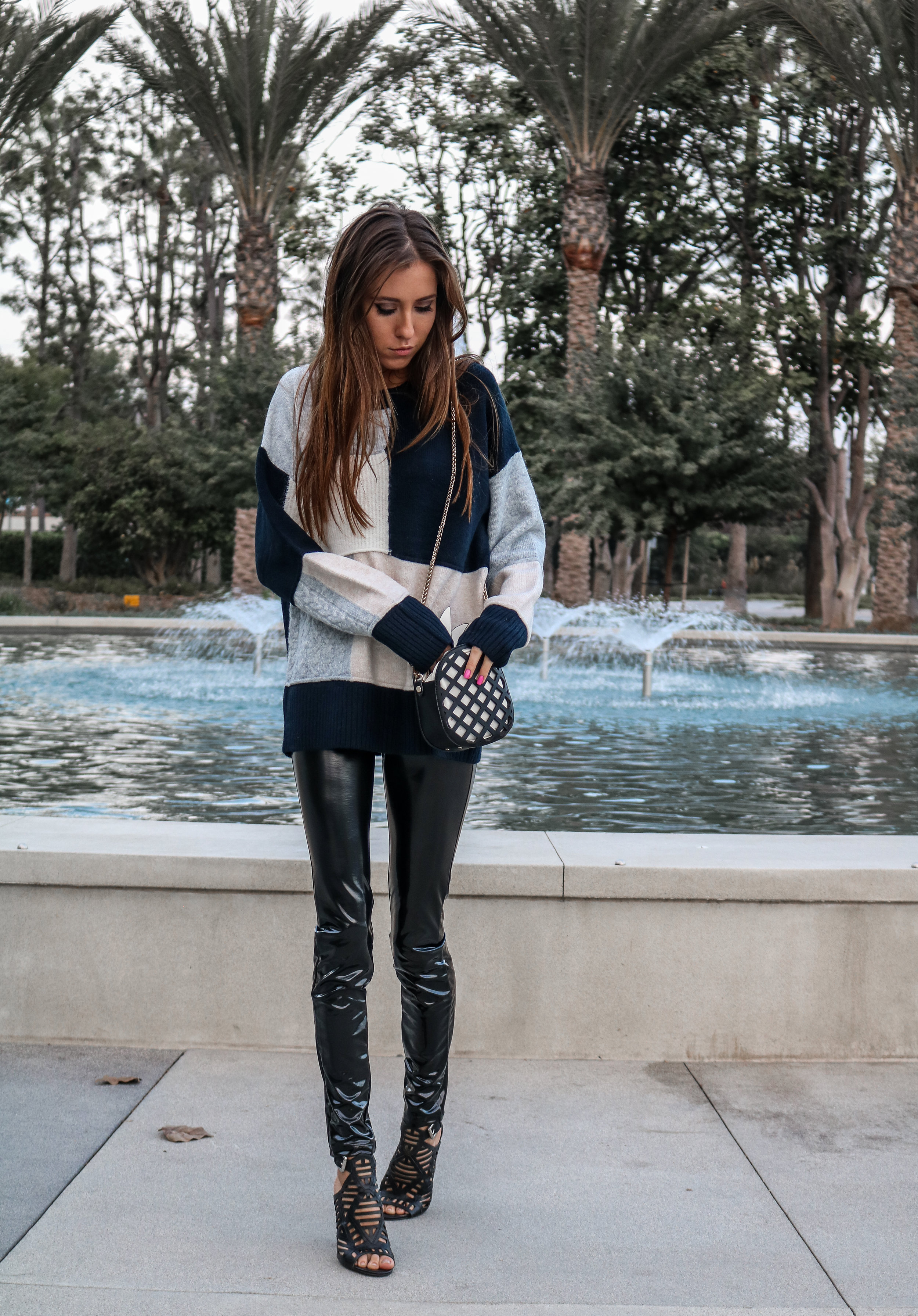 The Hungarian Brunette Color block sweater and latex pants (17 of 19).jpg