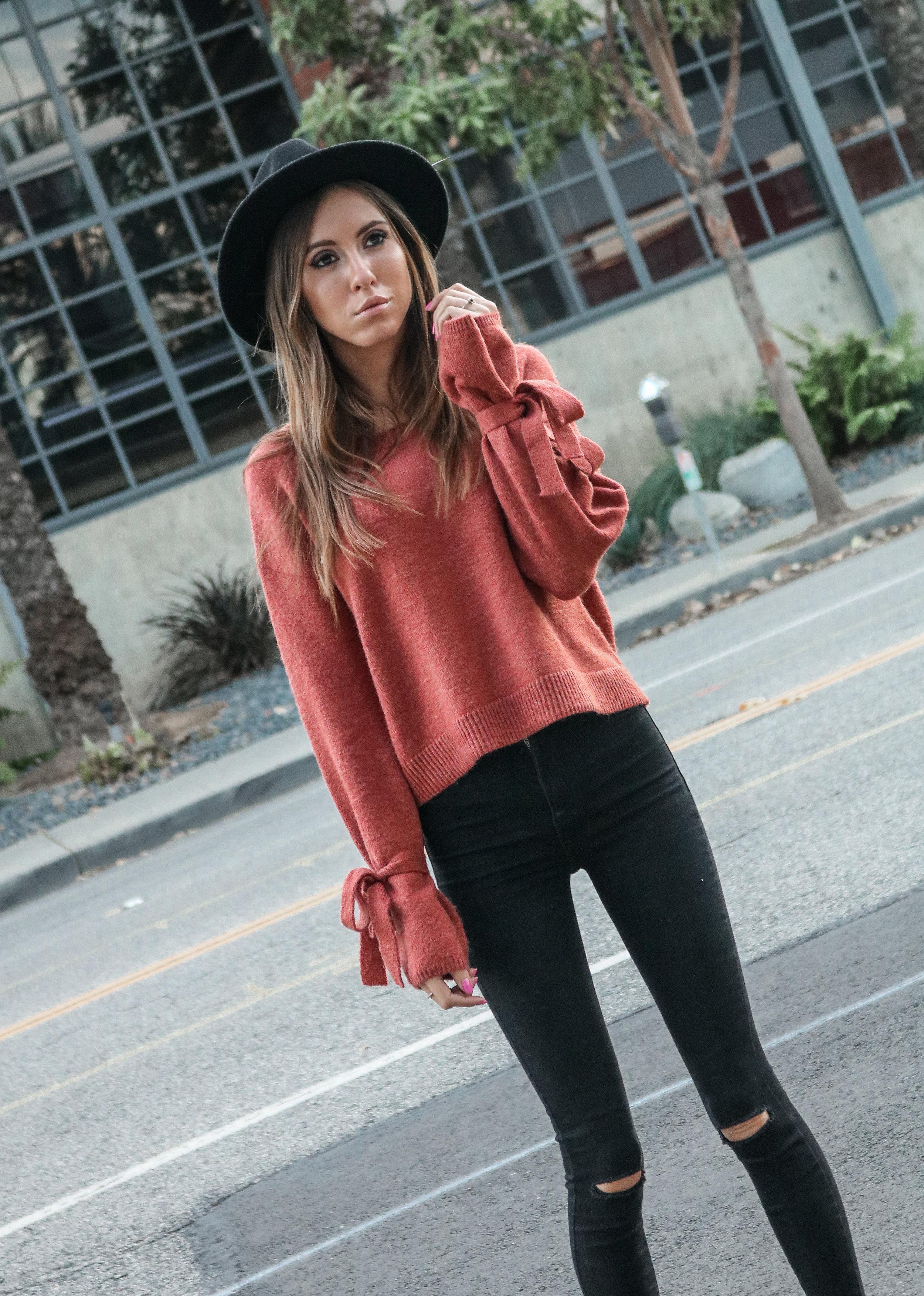 The Hungarian Brunette Burnt orange sweater statement sleeves (14 of 17).jpg