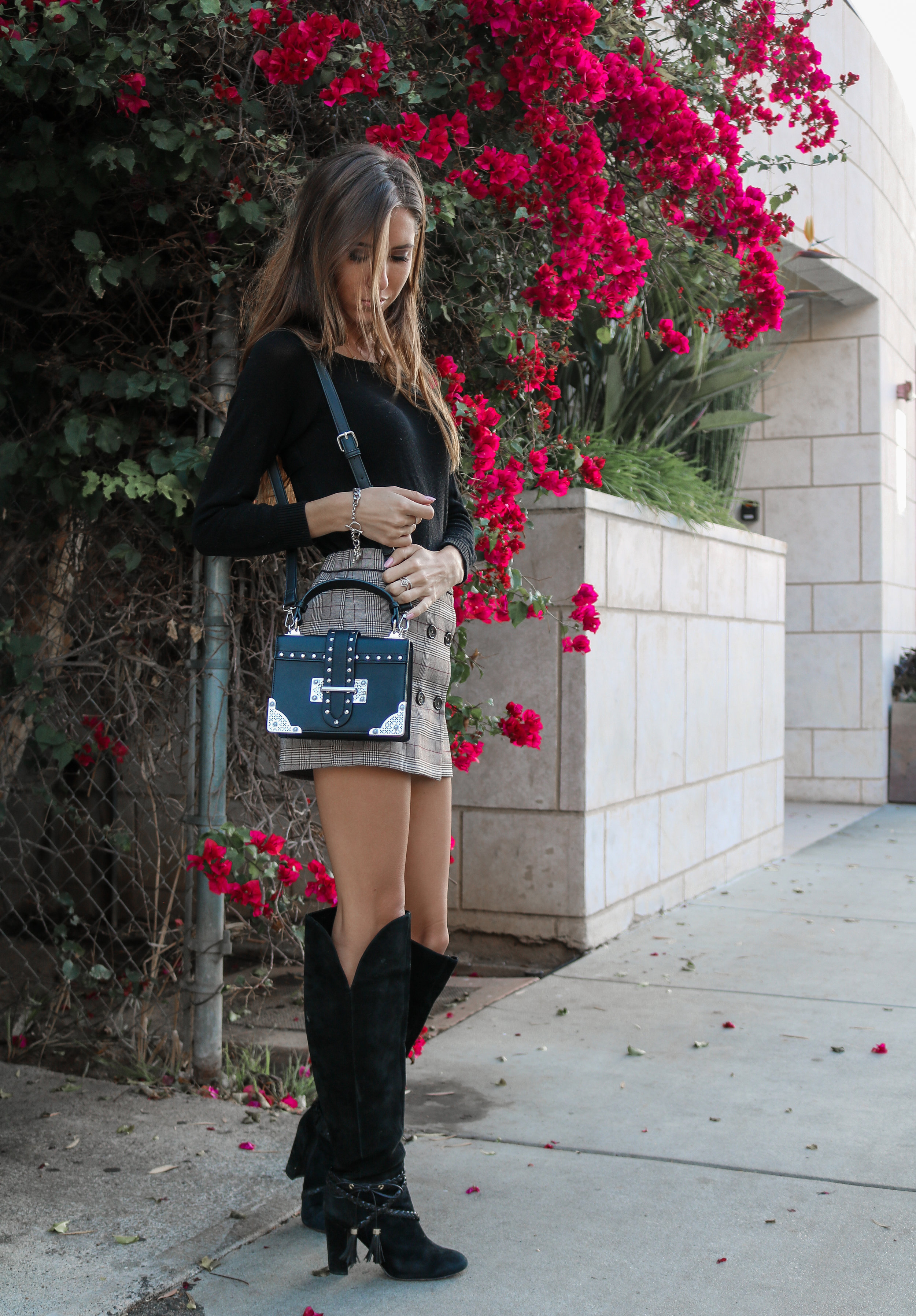 The Hungarian Brunette OOTD Preppy plaid for the Holidays