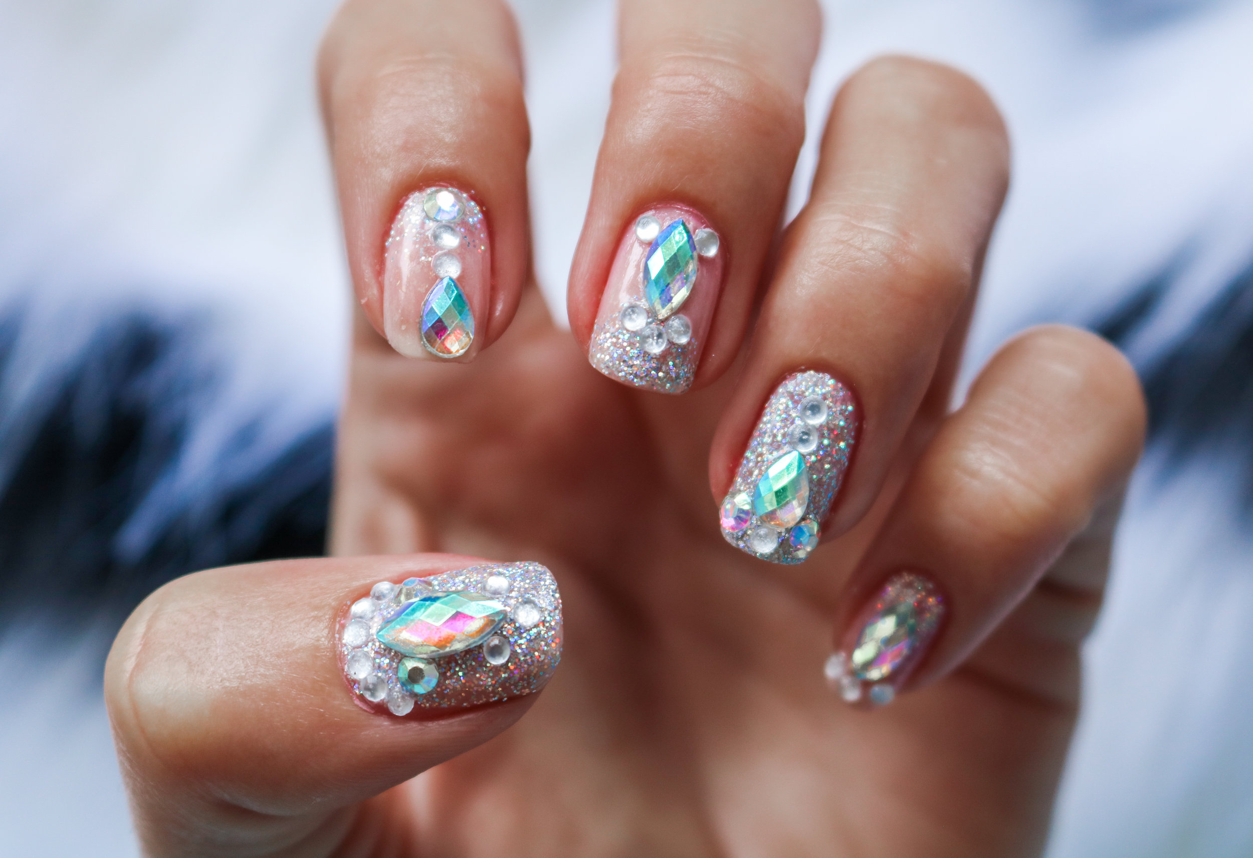 The Hungarian Brunette Festival crystal nail art