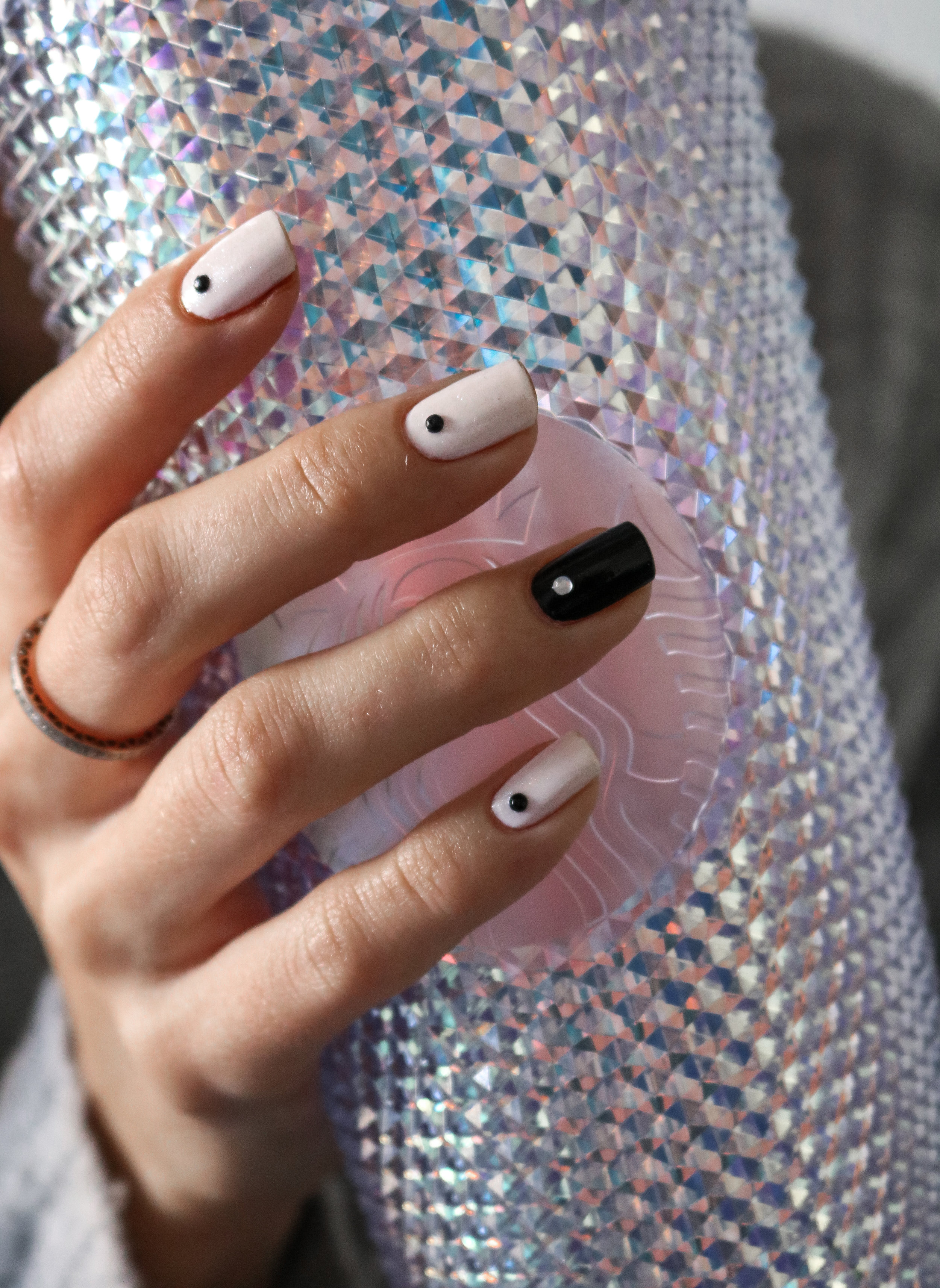 The Hungarian Brunette black and white manicure (2 of 3).jpg