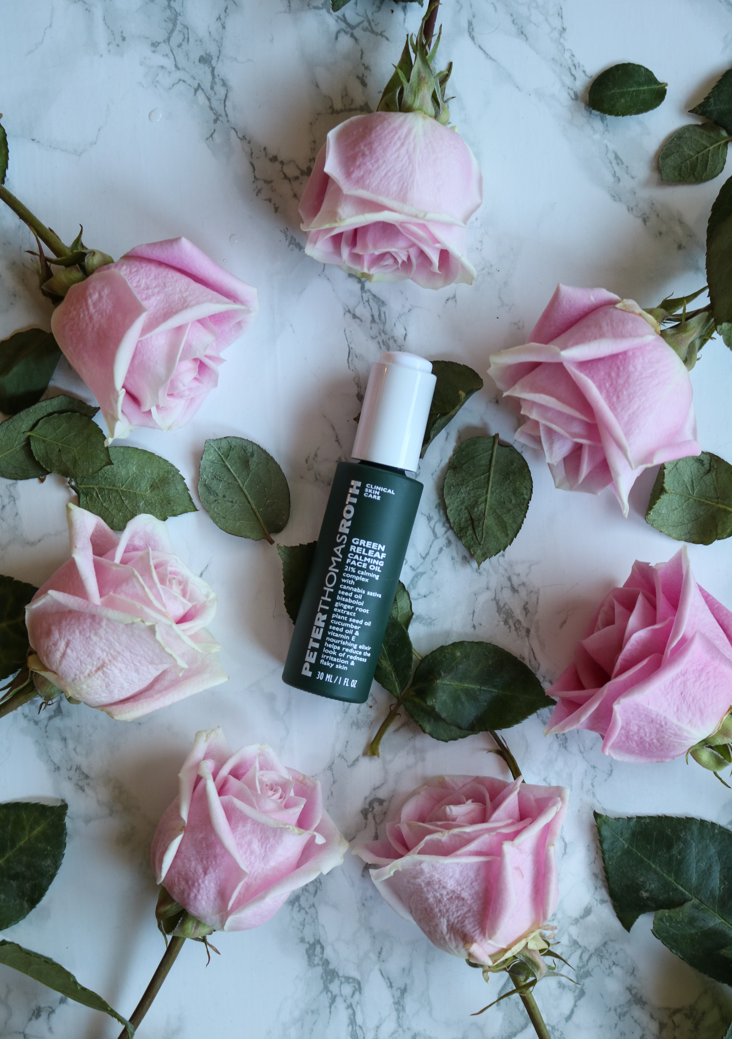 The Hungarian Brunette  peter thomas roth green releaf calming face oil