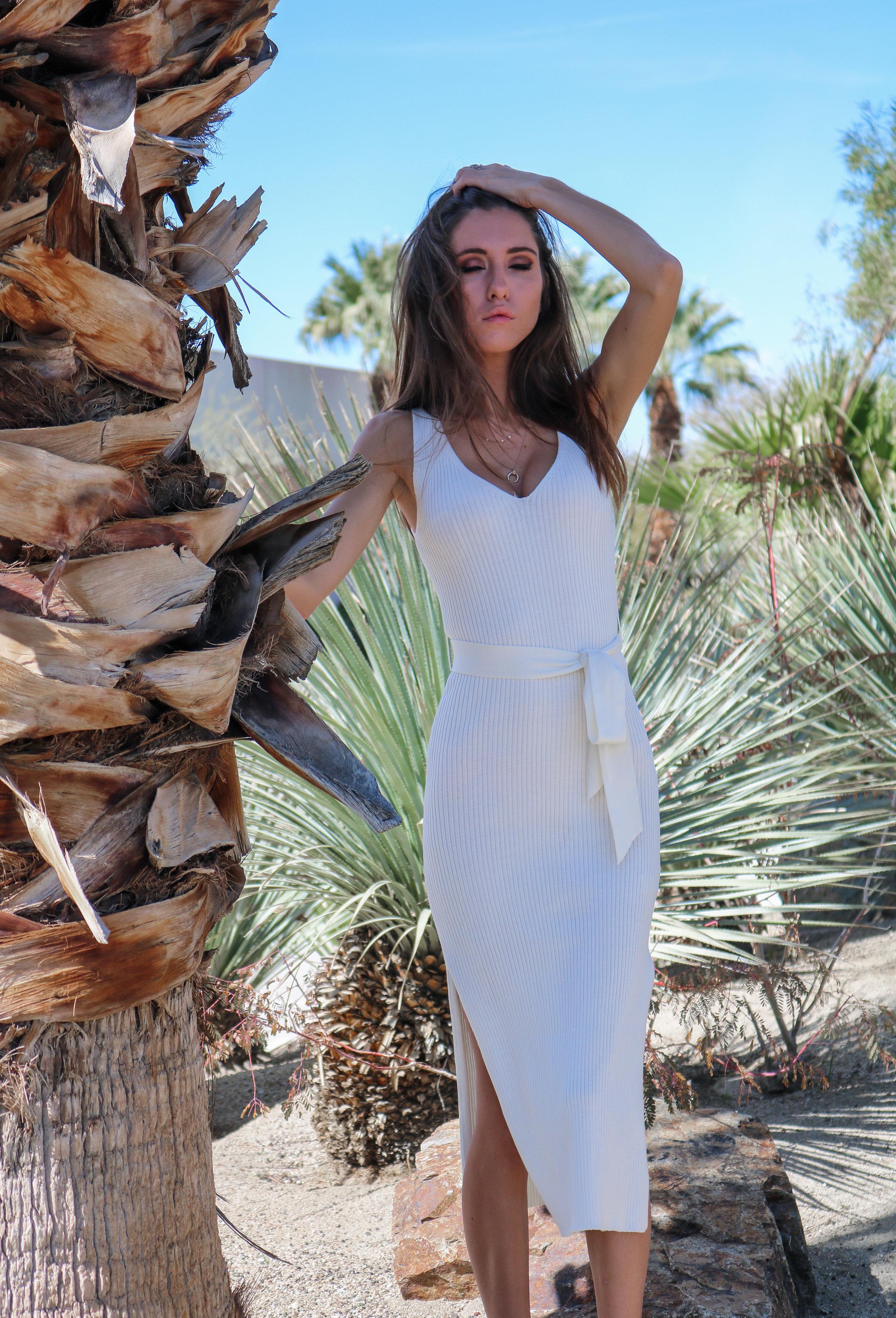 The Hungarian Brunette OOTD White midi dress double slit (10 of 25).jpg