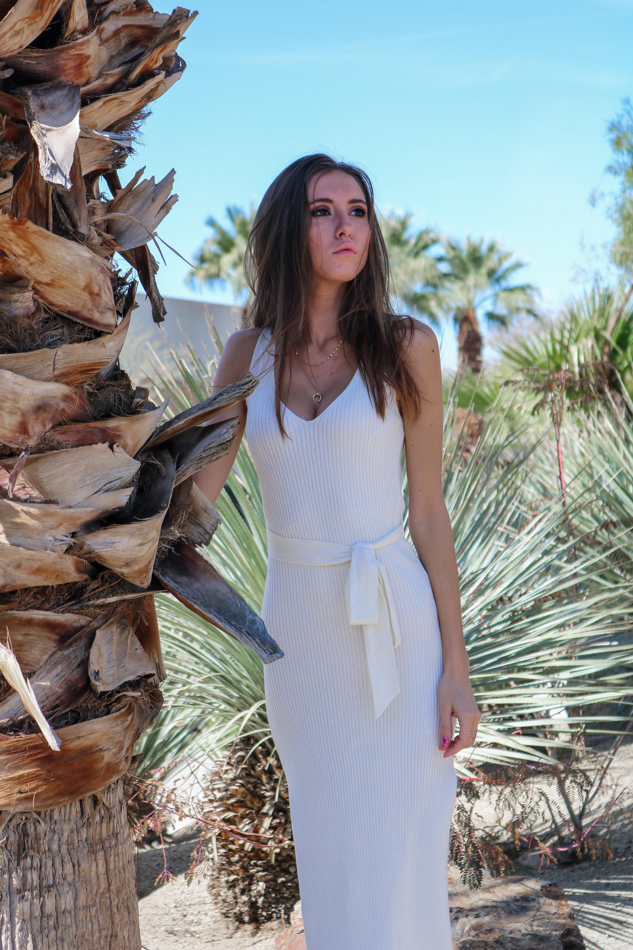 The Hungarian Brunette OOTD White midi dress double slit (9 of 25).jpg