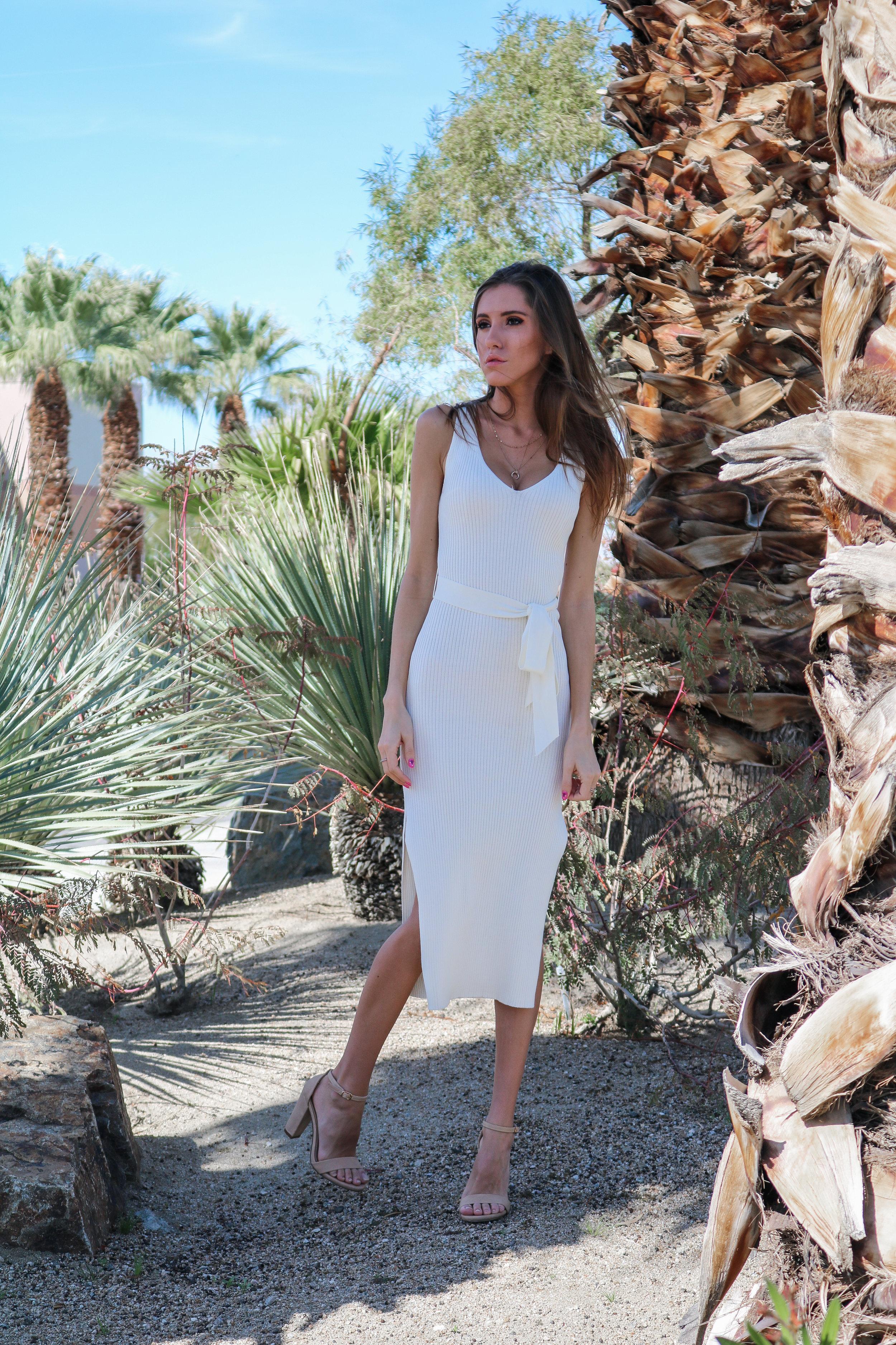 The Hungarian Brunette OOTD White midi dress double slit (4 of 25).jpg