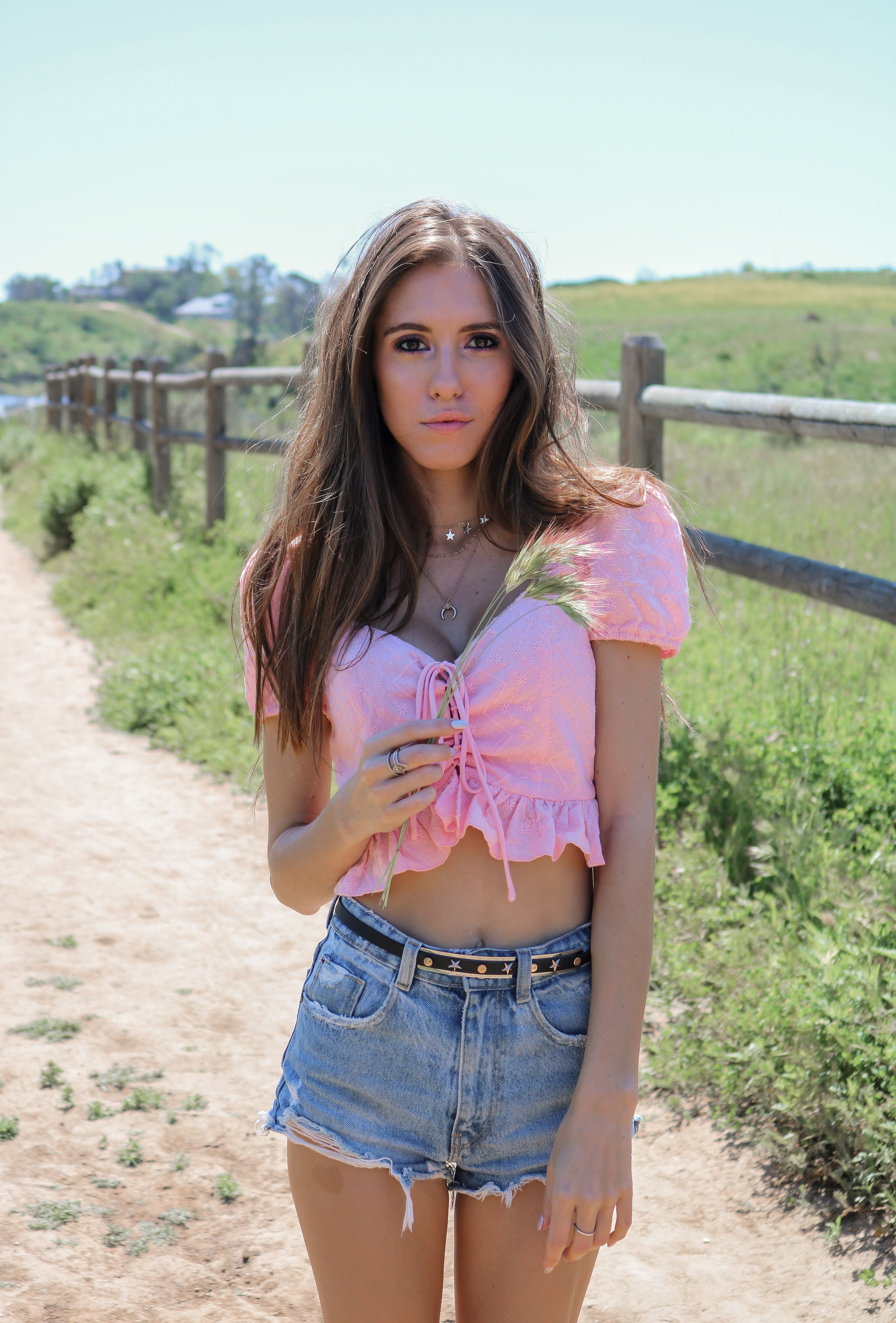 The Hungarian Brunette the most gorgeous pink eyelet crop top + 24 more adorable options for summer