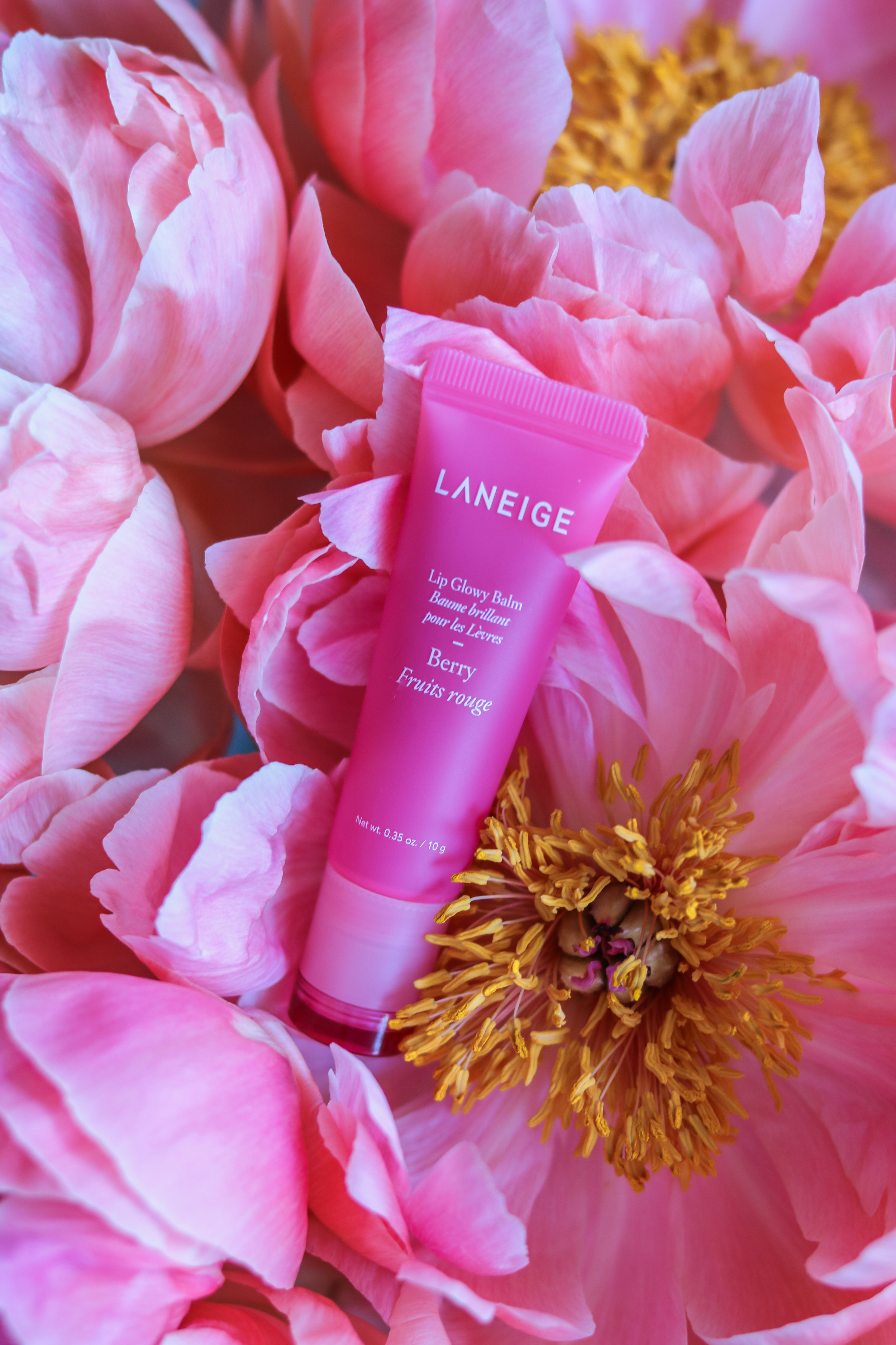 The Hungarian Brunette - Laneige lip glowy lip balm Review Berry