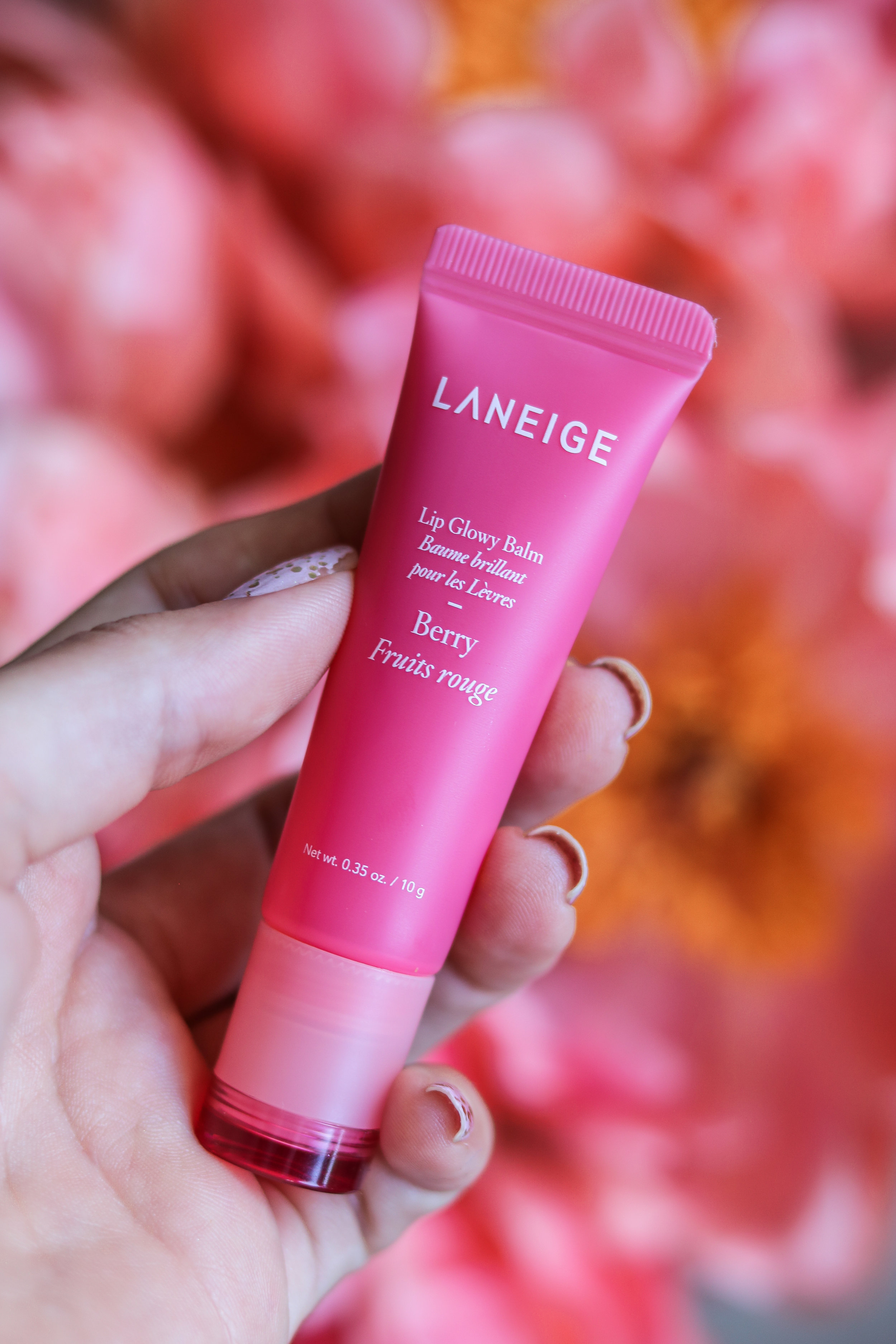 The Hungarian Brunette Laneige lip glowy balm review - juicy soft lips
