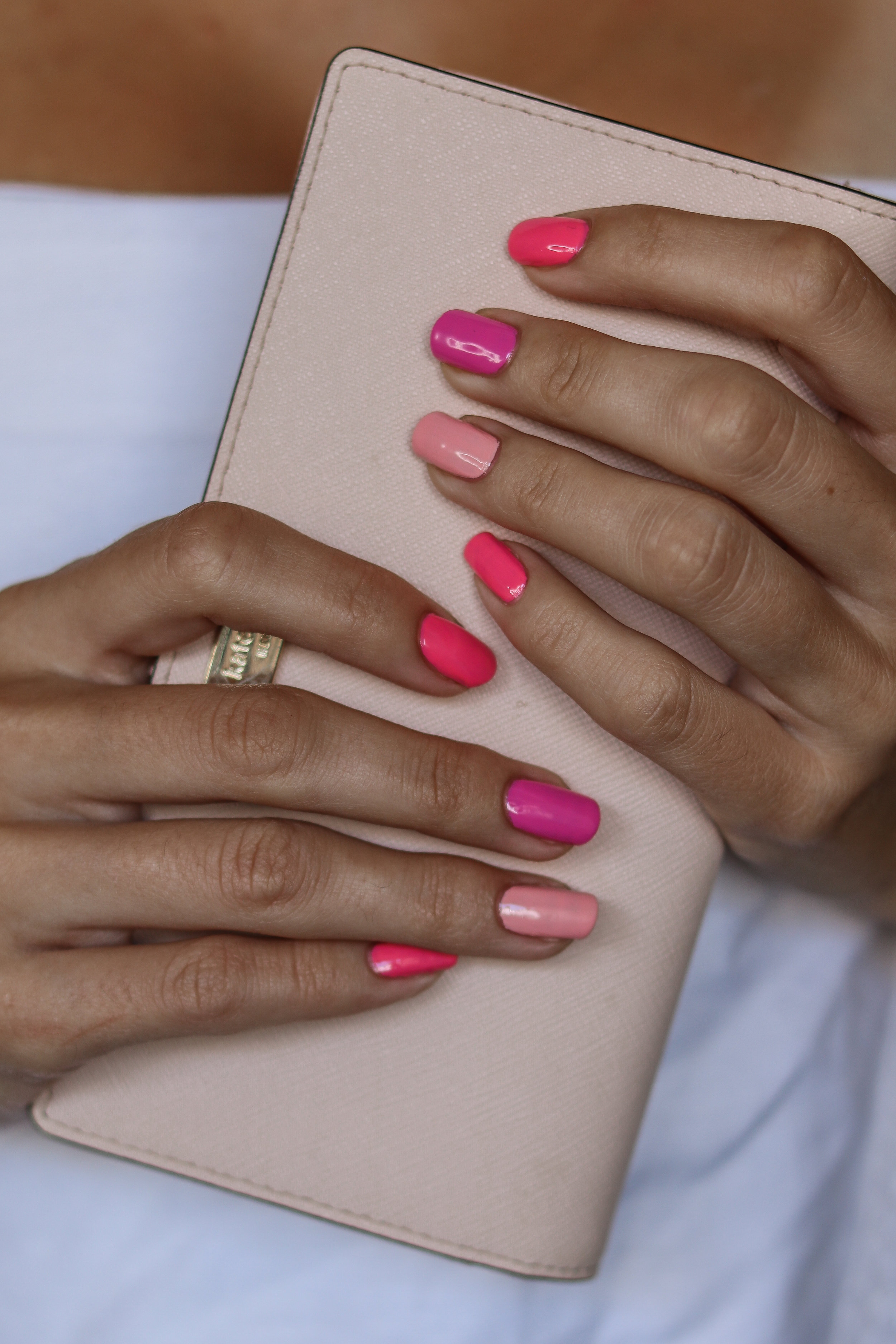 Multi Shades Of Pink Simple Mani For Spring And Summer The Hungarian Brunette