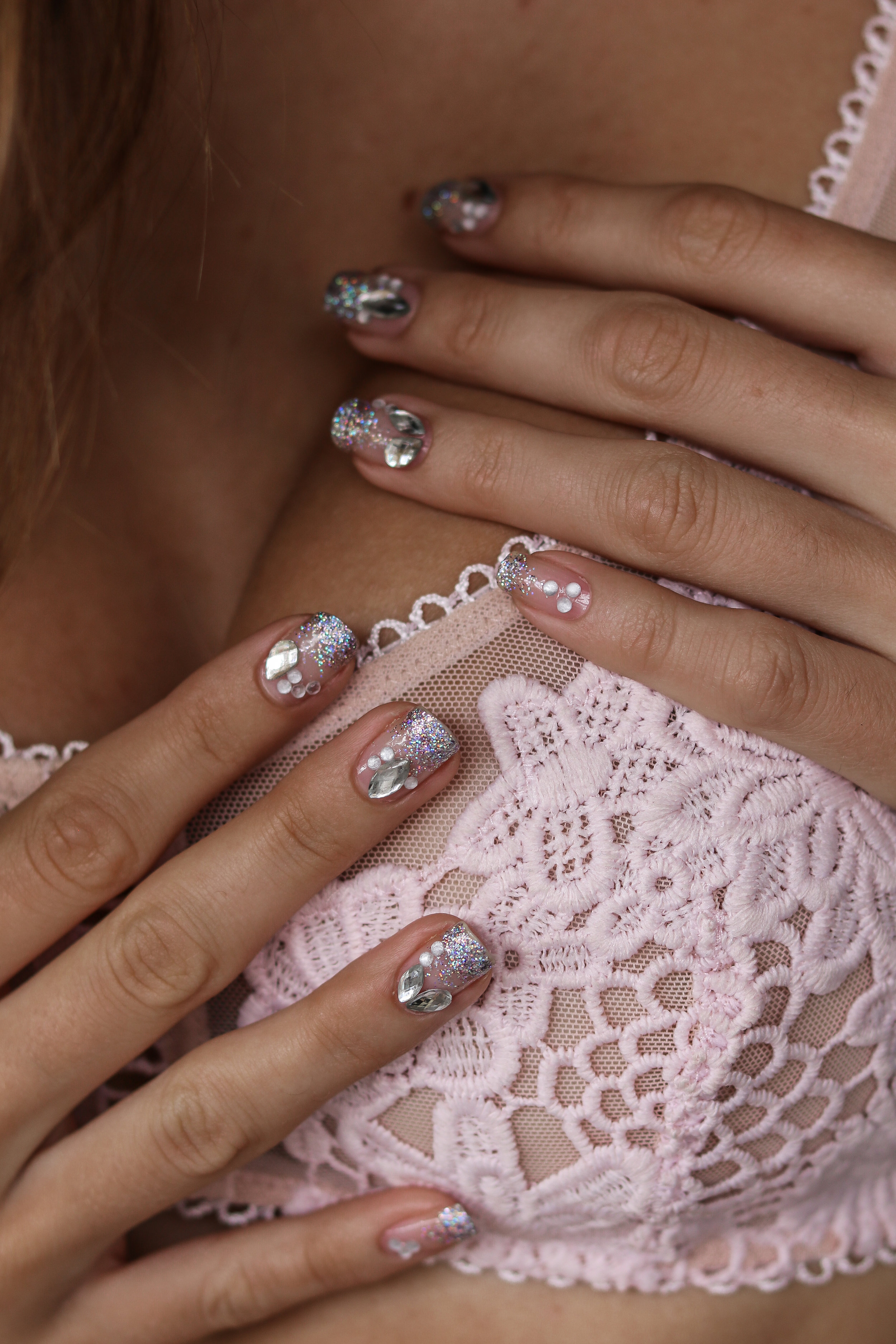 The Hungarian Brunette Negative space crystal nail art with holo glitter ombre (7 of 12).jpg