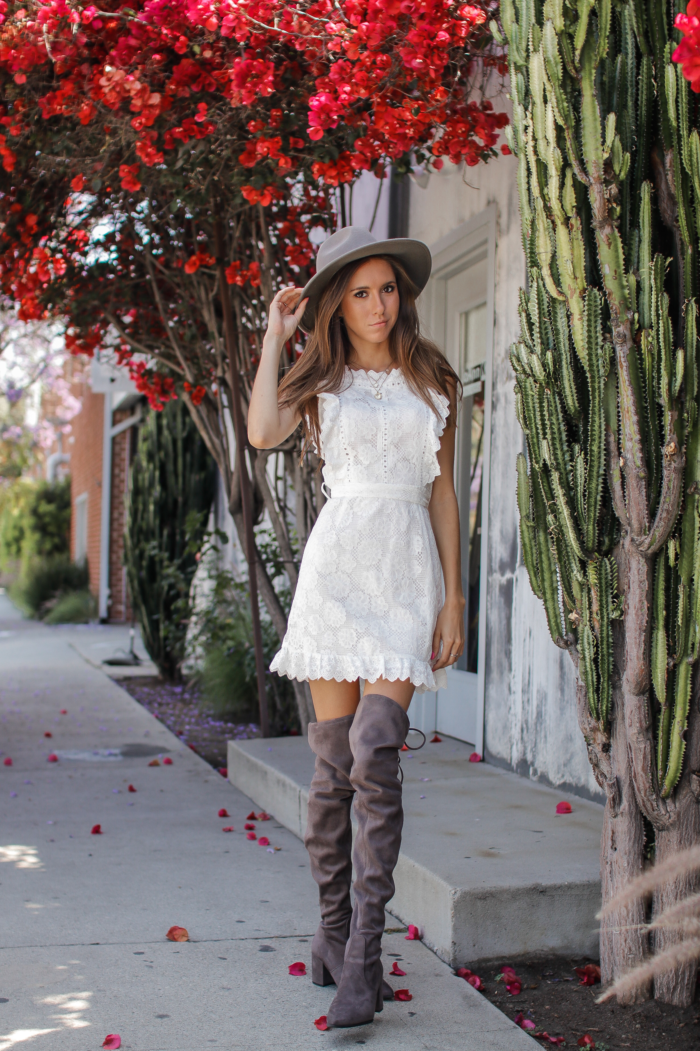 The Hungarian Brunette my favourite white lace apron dress super affordable from Amazon