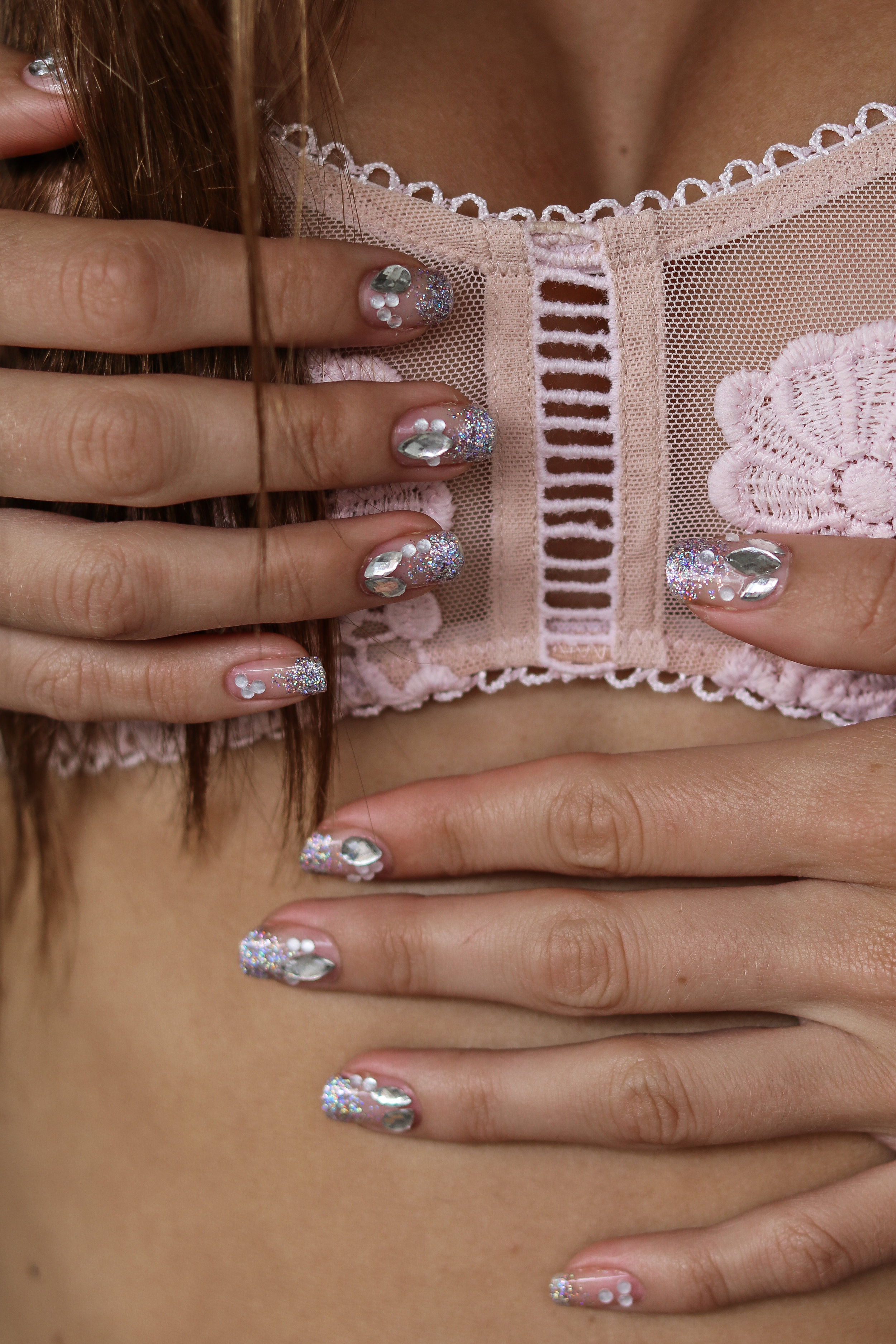 The Hungarian Brunette Negative space crystal nail art with holo glitter ombre (11 of 12).jpg