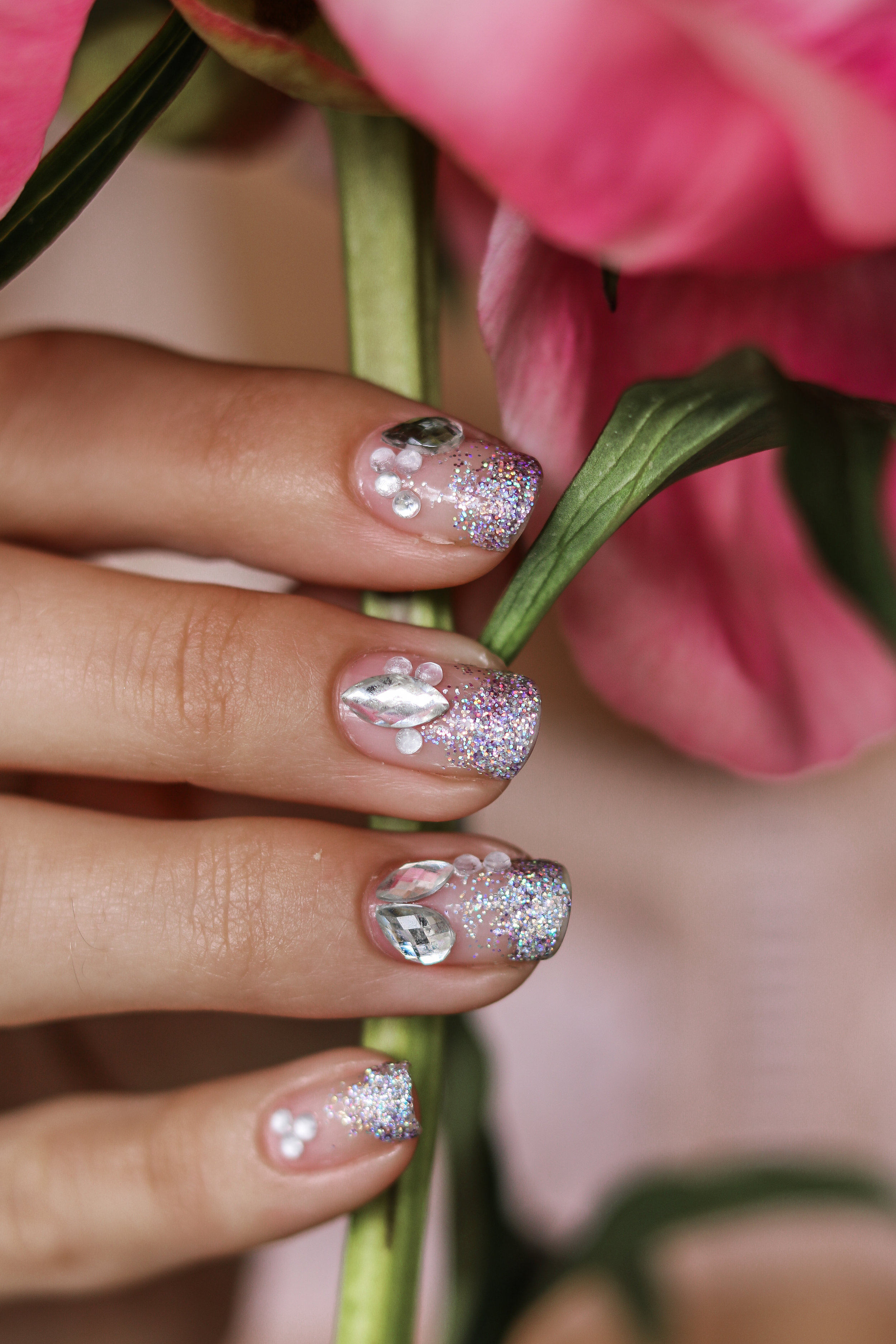 The Hungarian Brunette Negative space crystal nail art with holo glitter ombre (9 of 12).jpg