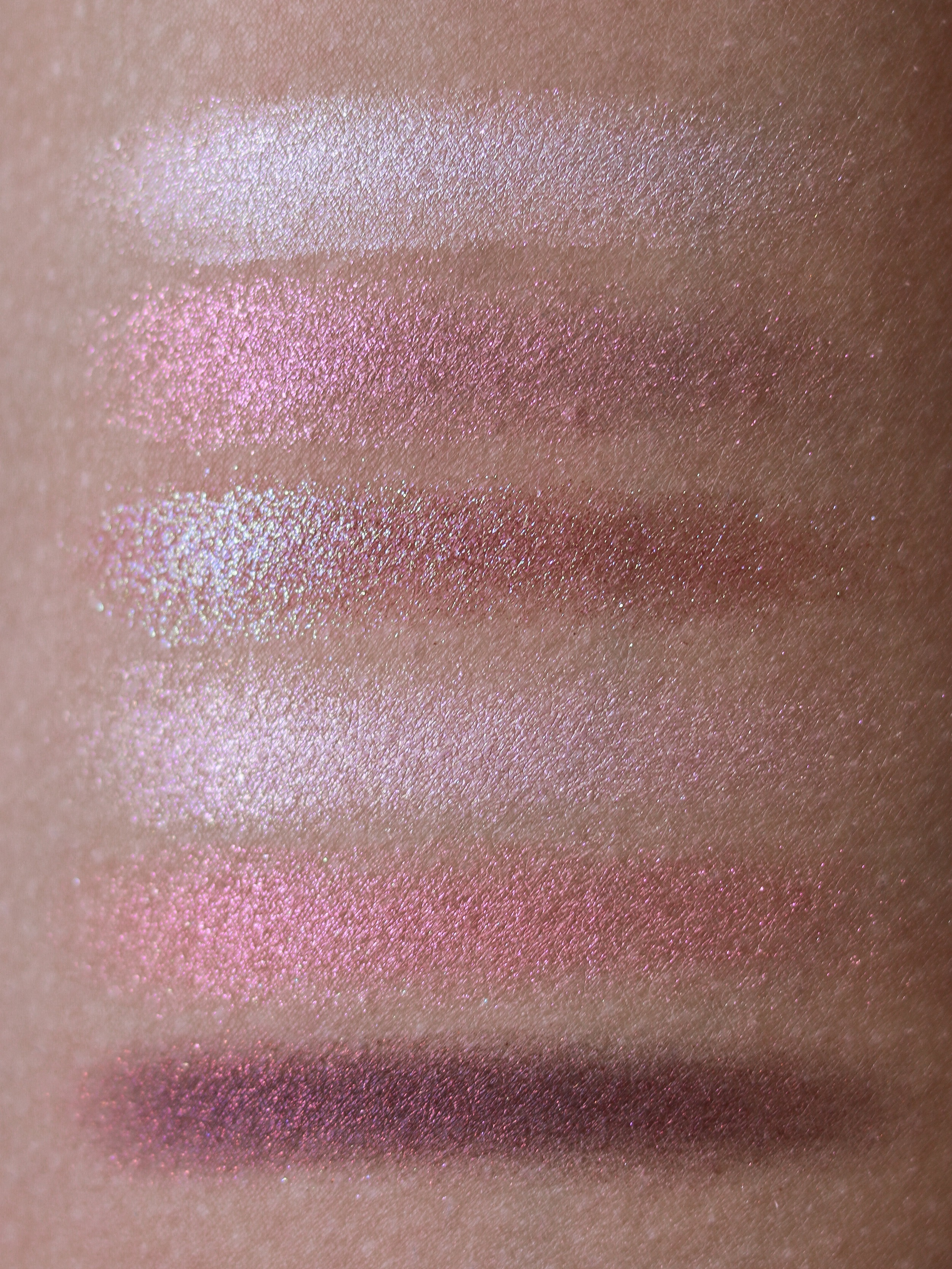 From top to bottom: Light Up, In Heat, Fuse, Atomic, Ignition, Pointe Noir.