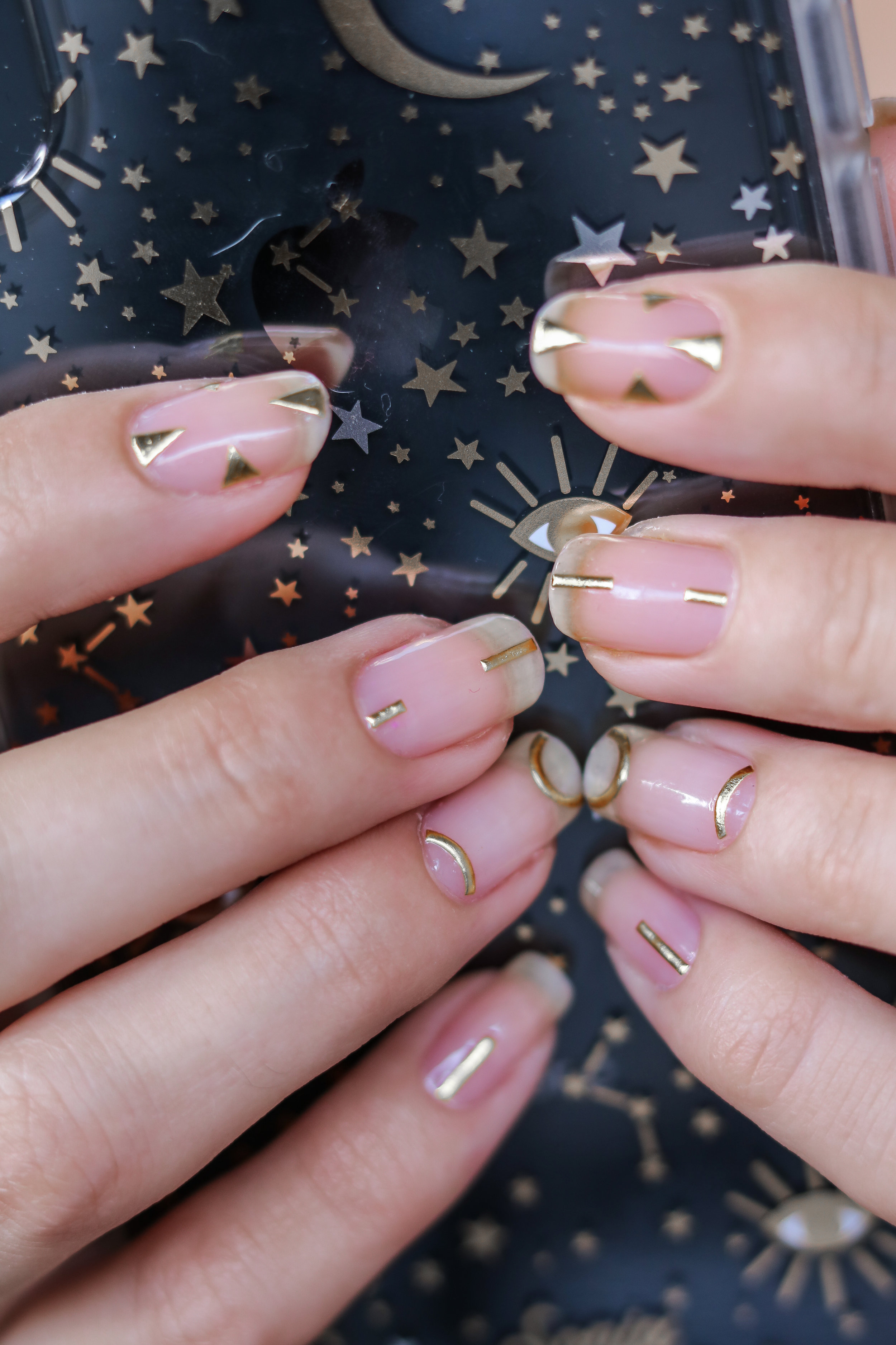 The Hungarian Brunette Minimal Negative space manicure with gold geometrical accents (3 of 8).jpg