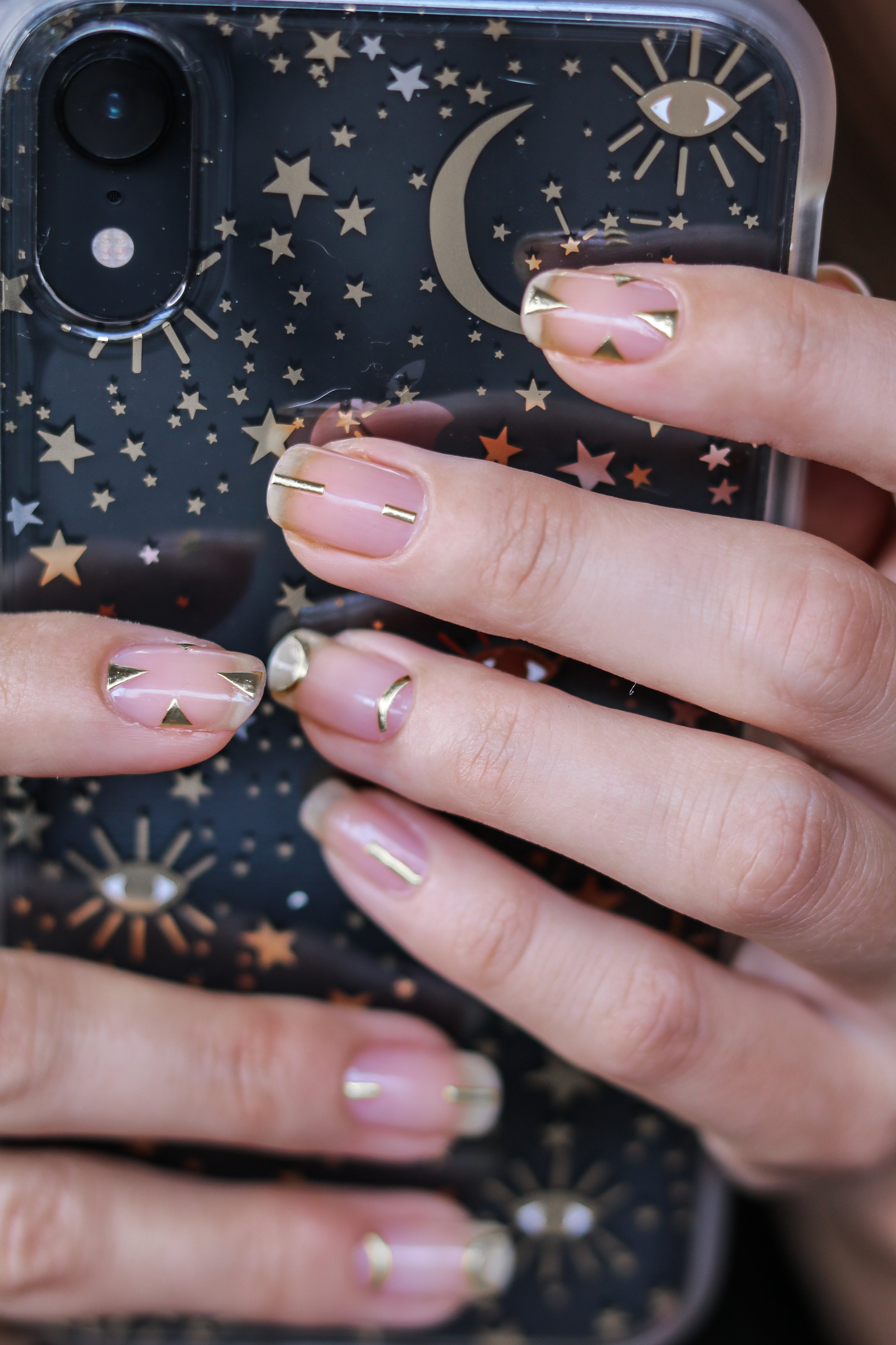 The Hungarian Brunette Minimal Negative space manicure with gold geometrical accents (6 of 8).jpg