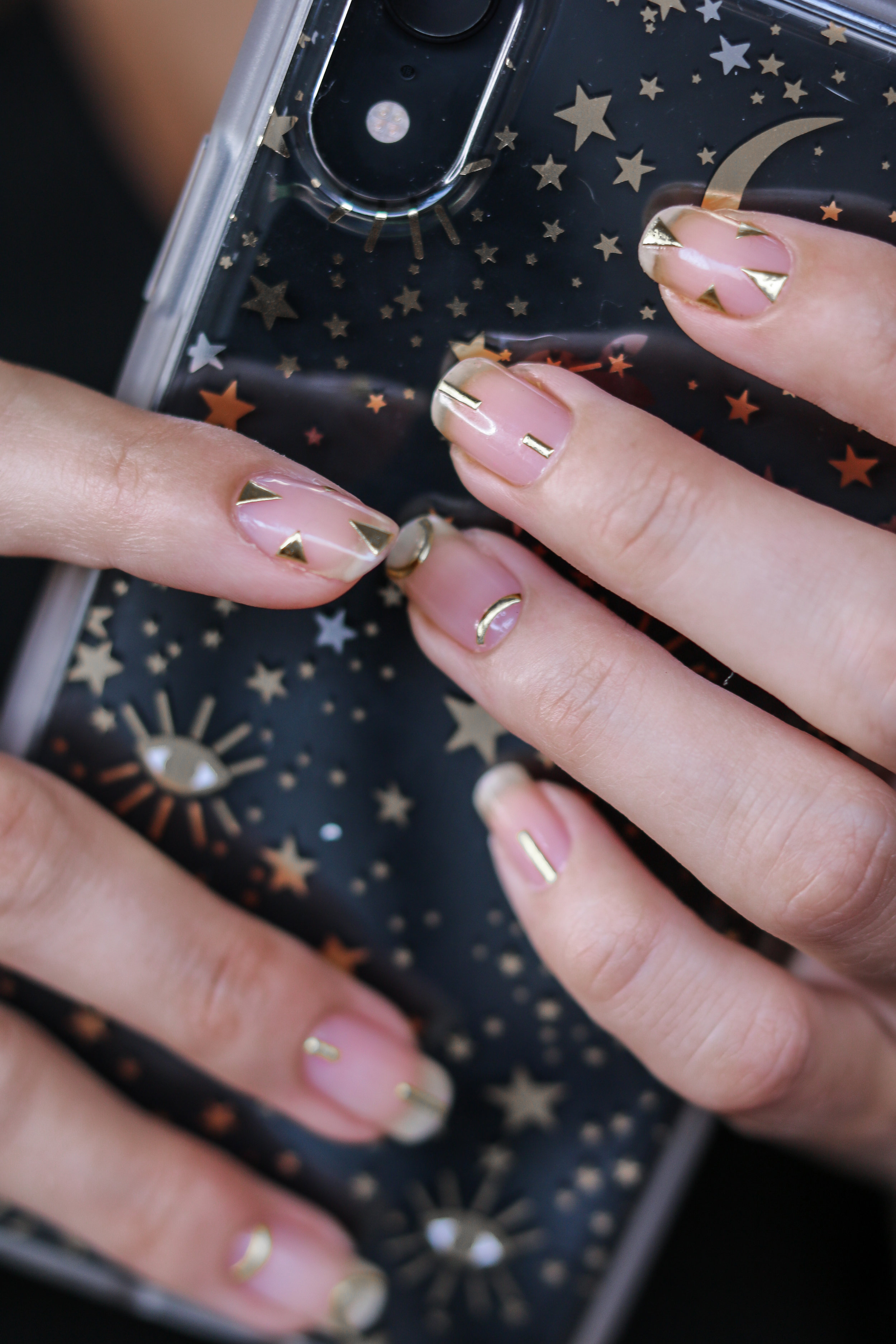 The Hungarian Brunette Minimal Negative space manicure with gold geometrical accents (7 of 8).jpg