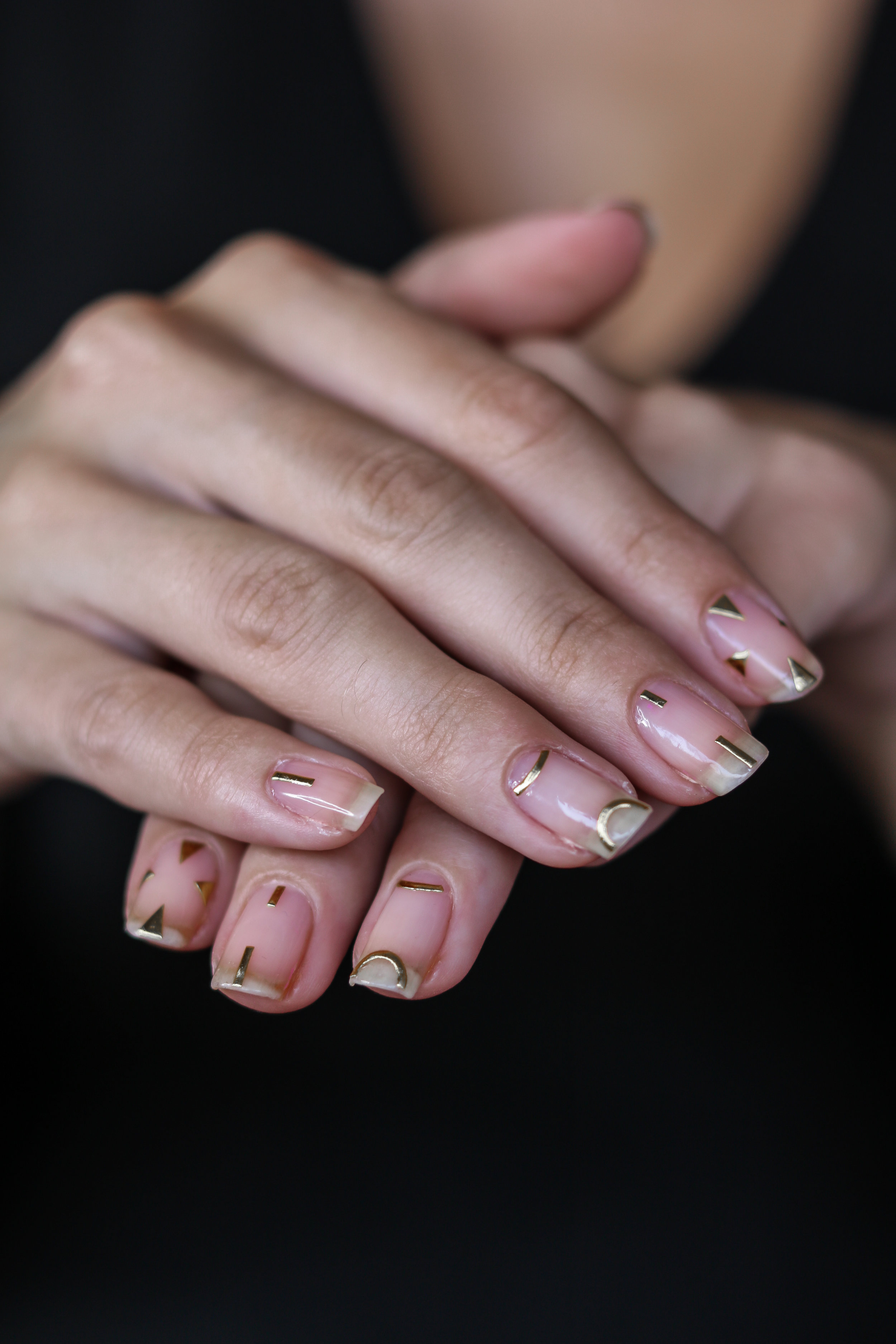 The Hungarian Brunette Minimal Negative space manicure with gold geometrical accents (8 of 8).jpg