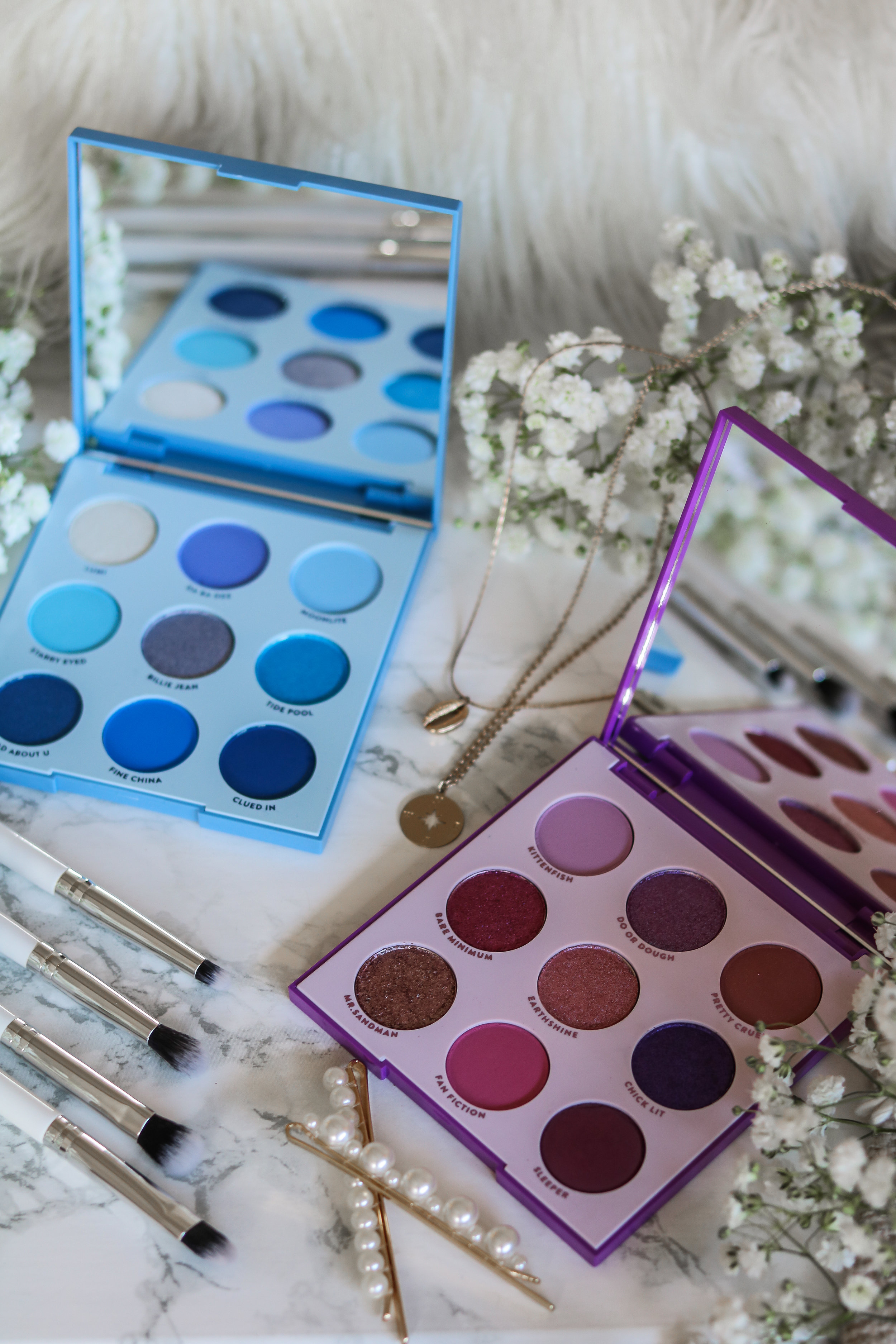The Hungarian Brunette Colourpop Cosmetics Blue moon and it's my pleasure eyeshadow palette review and swatches - Purple palette + Blue palette (1 of 9).jpg