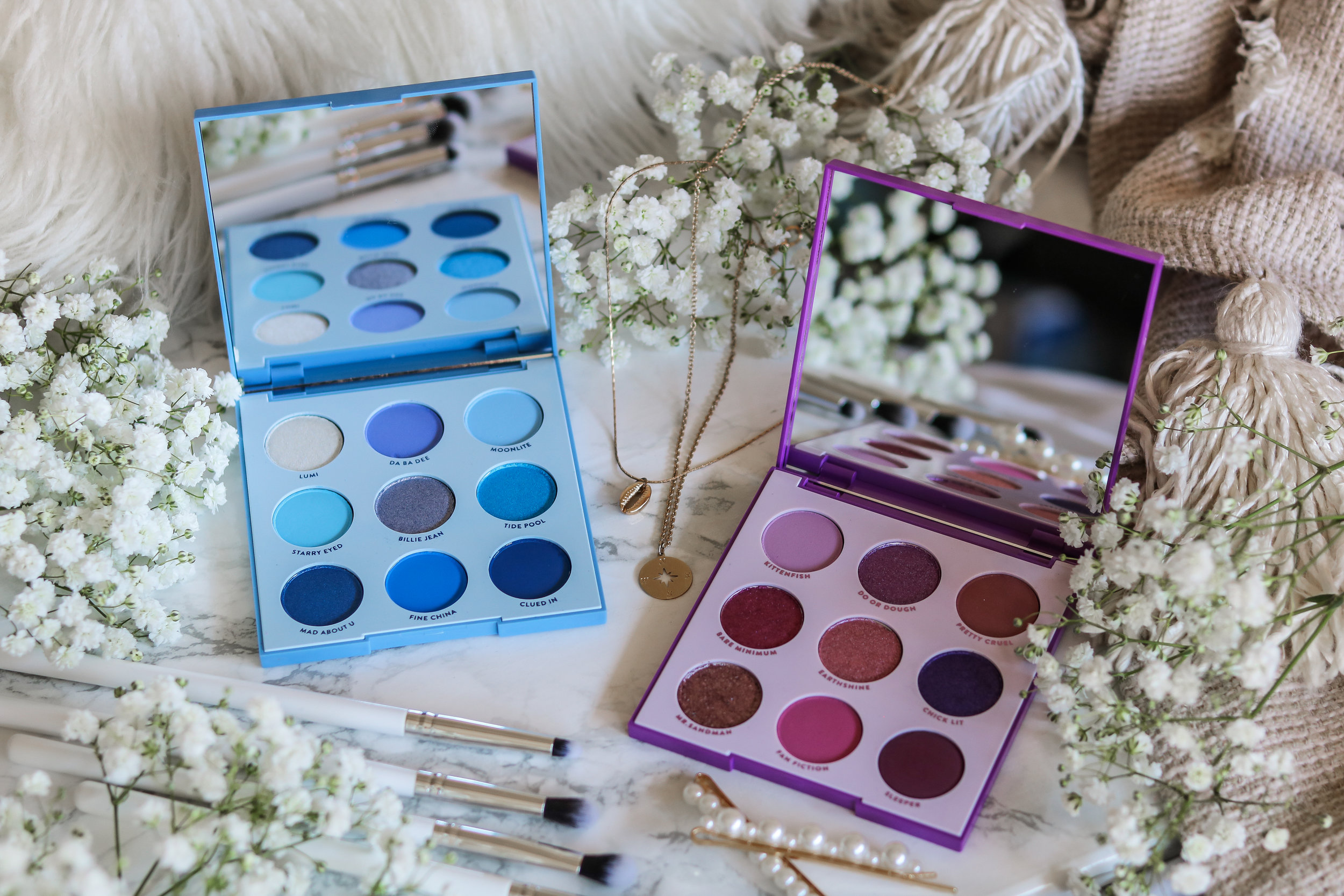 The Hungarian Brunette Colourpop Cosmetics Blue moon and it's my pleasure eyeshadow palette review and swatches - Purple palette + Blue palette (4 of 9).jpg
