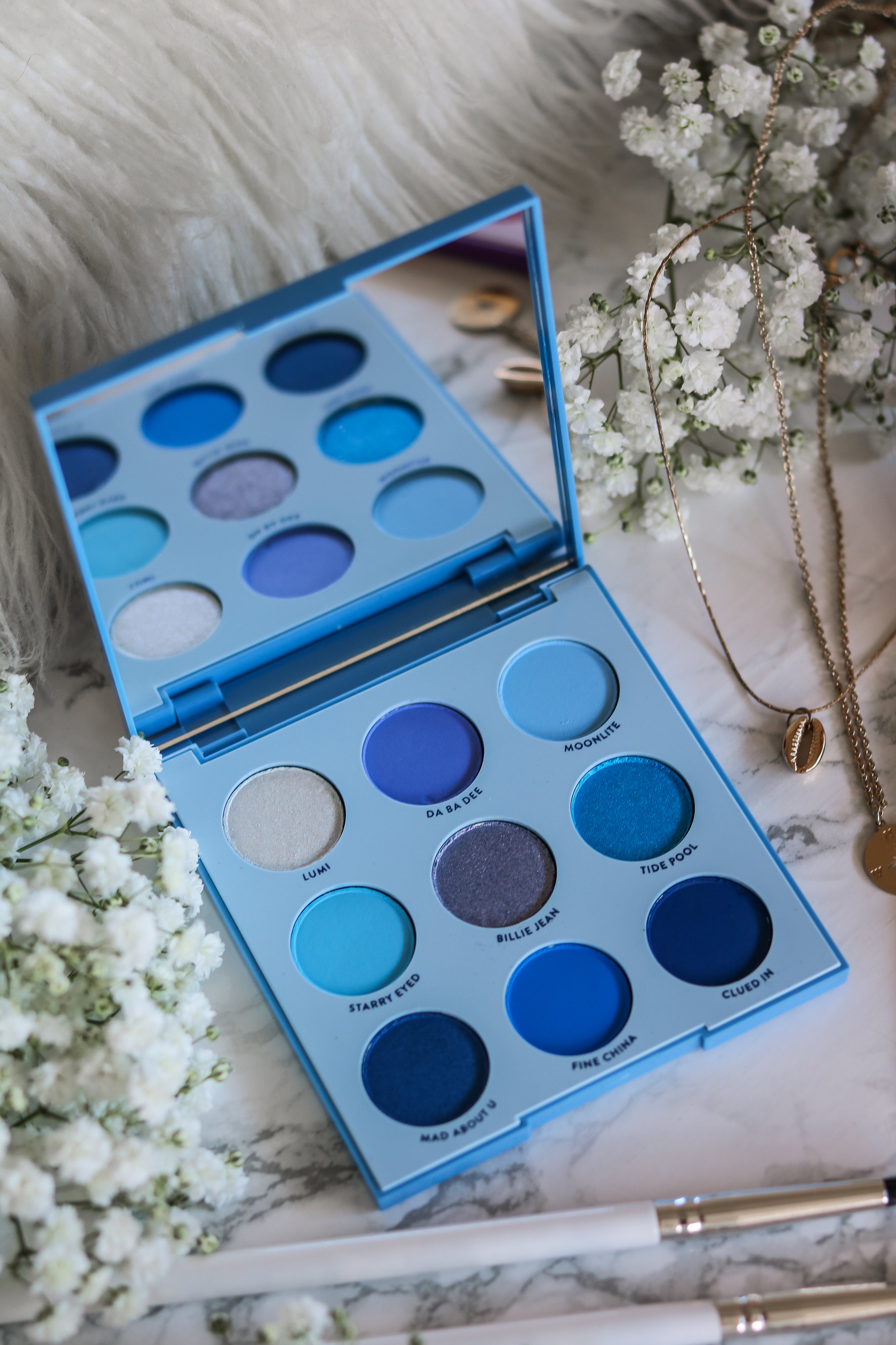 The Hungarian Brunette Colourpop Cosmetics Blue moon and it's my pleasure eyeshadow palette review and swatches - Purple palette + Blue palette (2 of 9).jpg