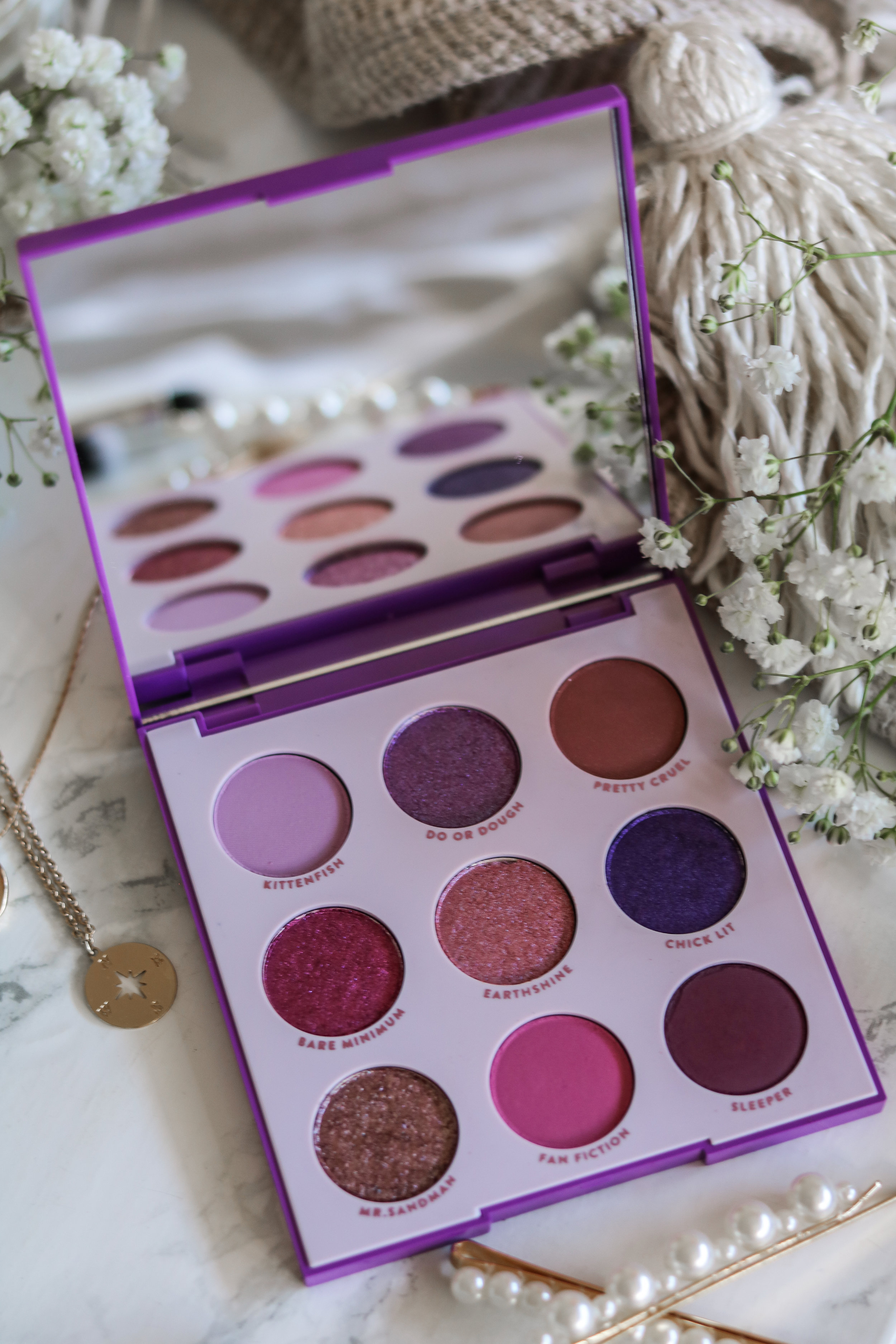 The Hungarian Brunette Colourpop Cosmetics Blue moon and it's my pleasure eyeshadow palette review and swatches - Purple palette + Blue palette (3 of 9).jpg