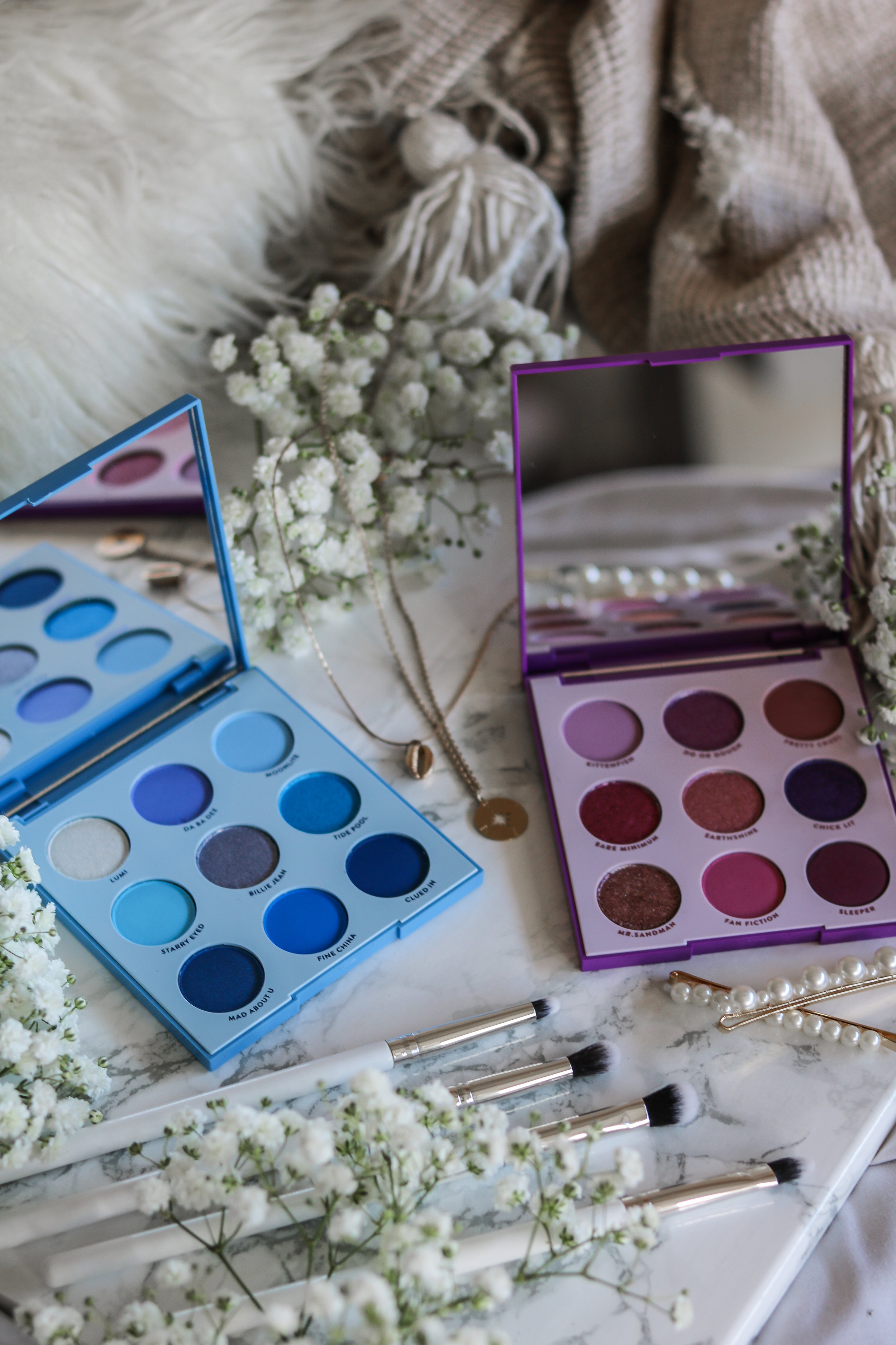 The Hungarian Brunette Colourpop Cosmetics Blue moon and it's my pleasure eyeshadow palette review and swatches - Purple palette + Blue palette (7 of 9).jpg