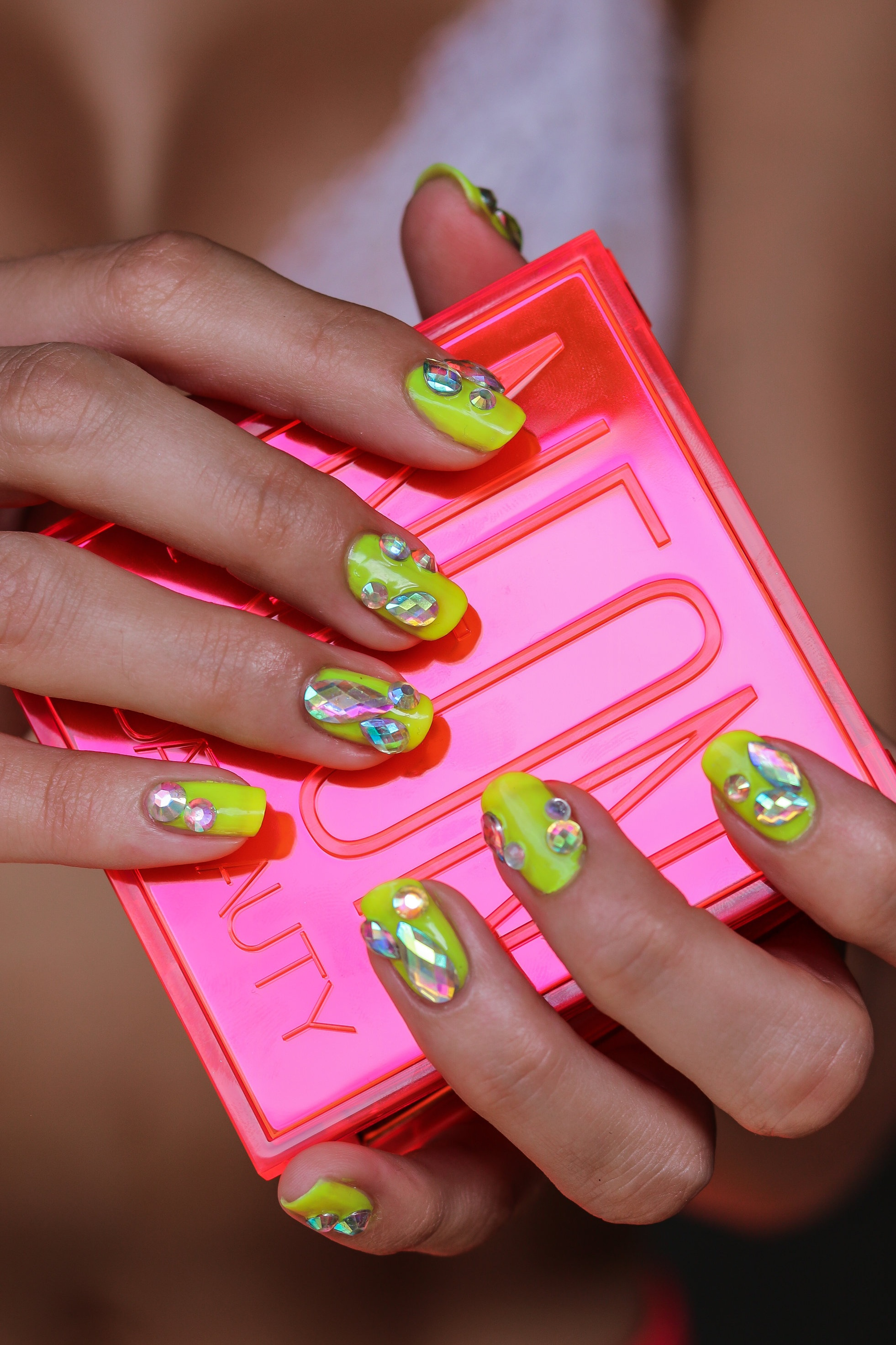 The+Hungarian+Brunette+Summer+Blinged+out+Neon+Yellow+nails+with+festival+crystal+accents+%283+of+9%29.jpg