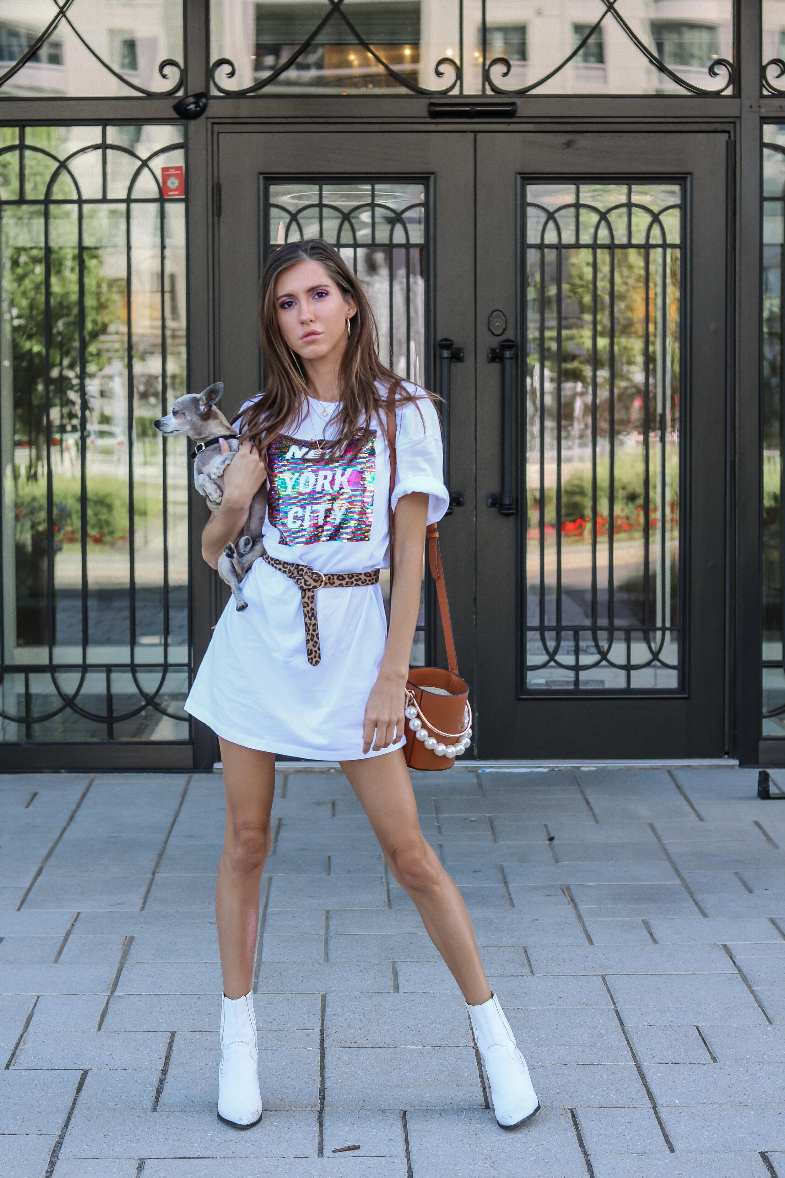 The Hungarian Brunette 2 ways to wear an oversized t-shirt dress
