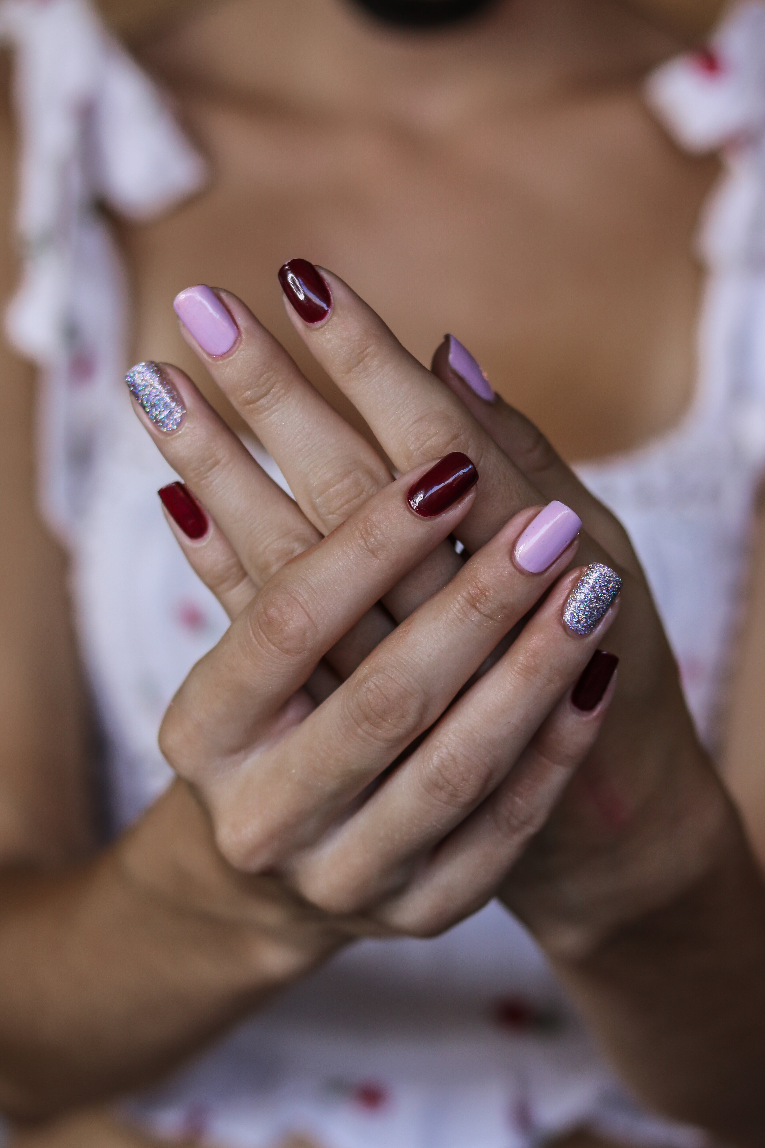 The Hungarian Brunette pink burgundy and holo nails (1 of 9).jpg