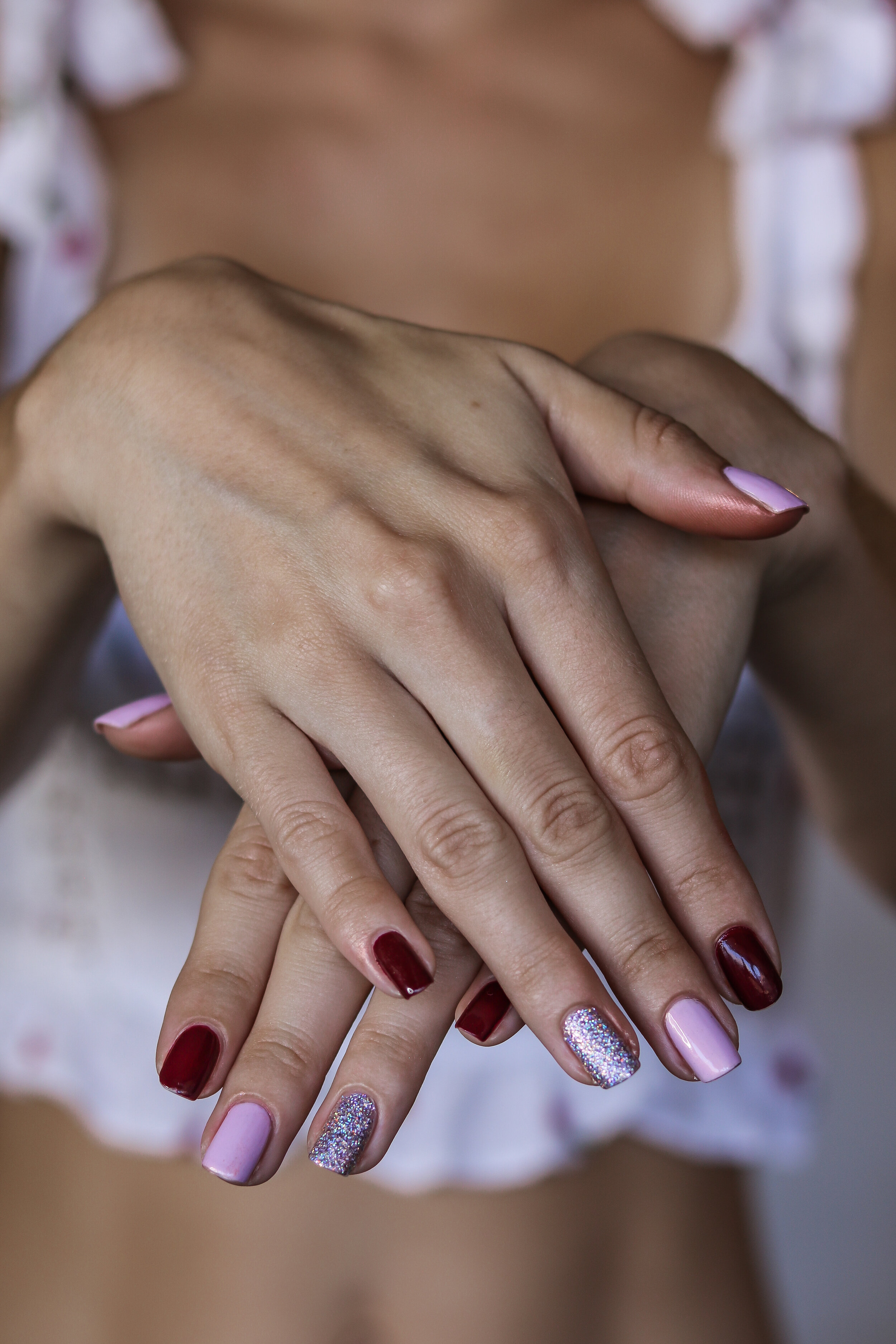 The Hungarian Brunette pink burgundy and holo nails (2 of 9).jpg
