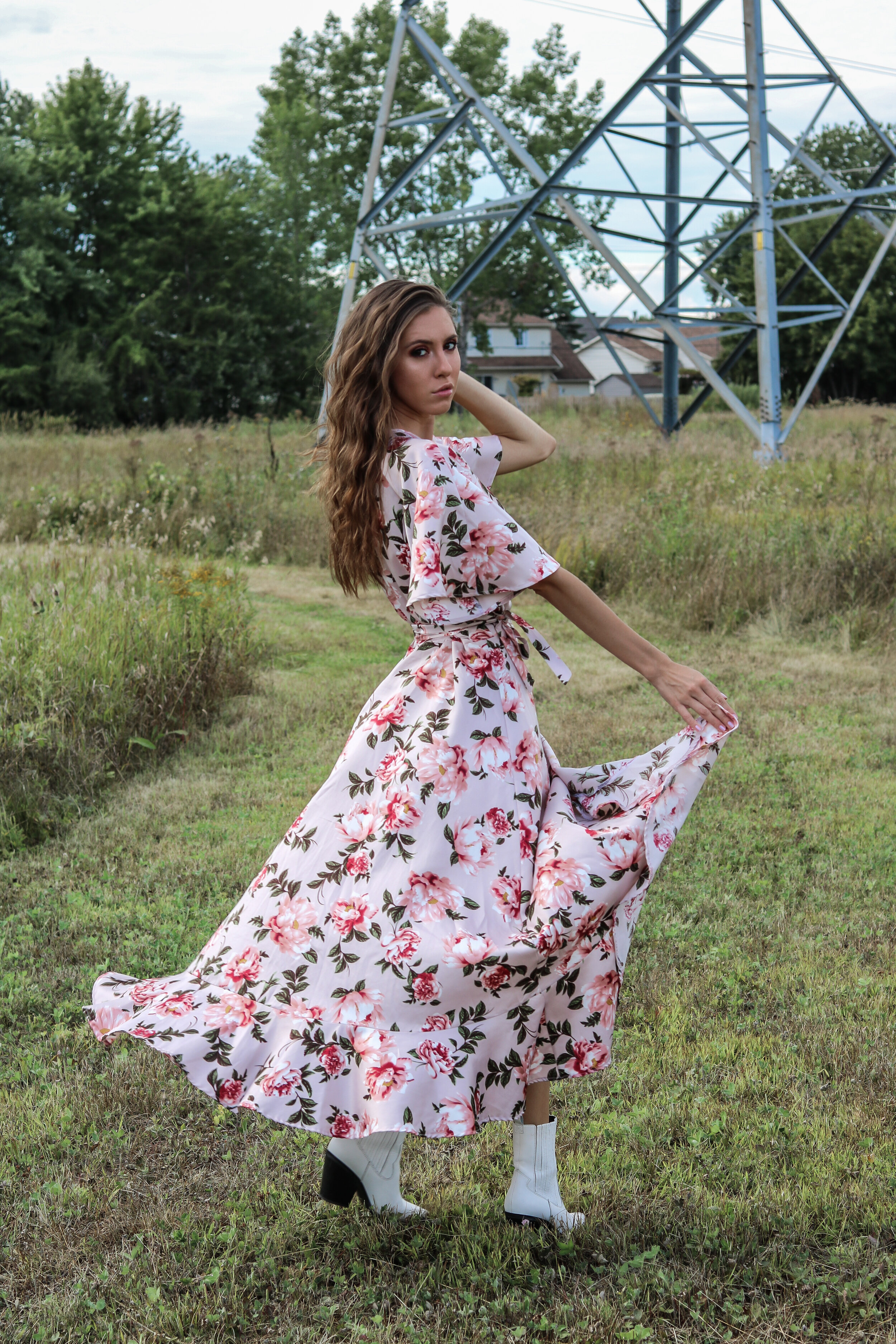 The Hungarian Brunette Floral Maxi dress
