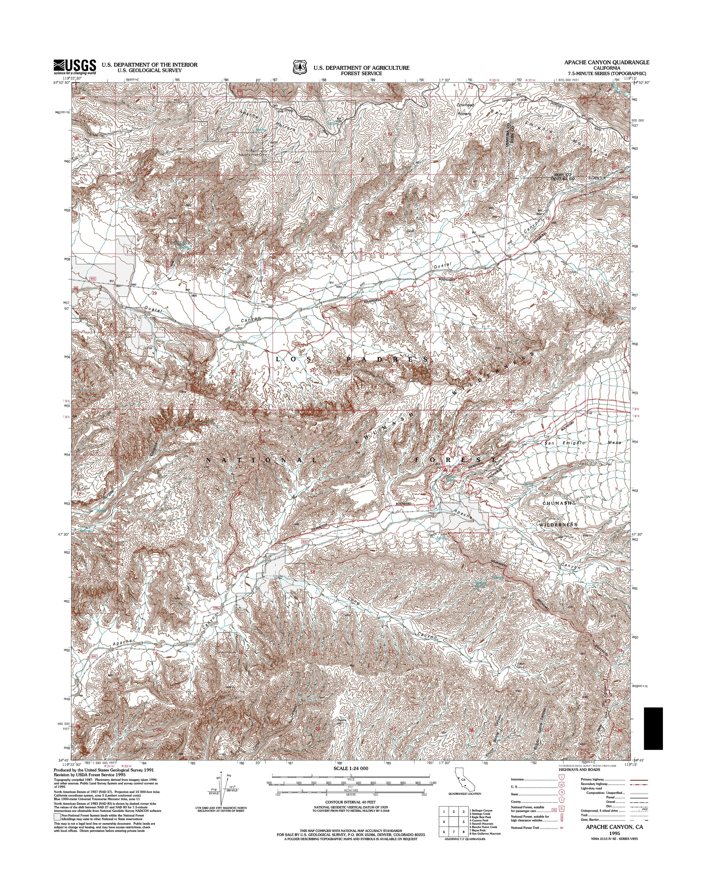 Apache Canyon Topography Map