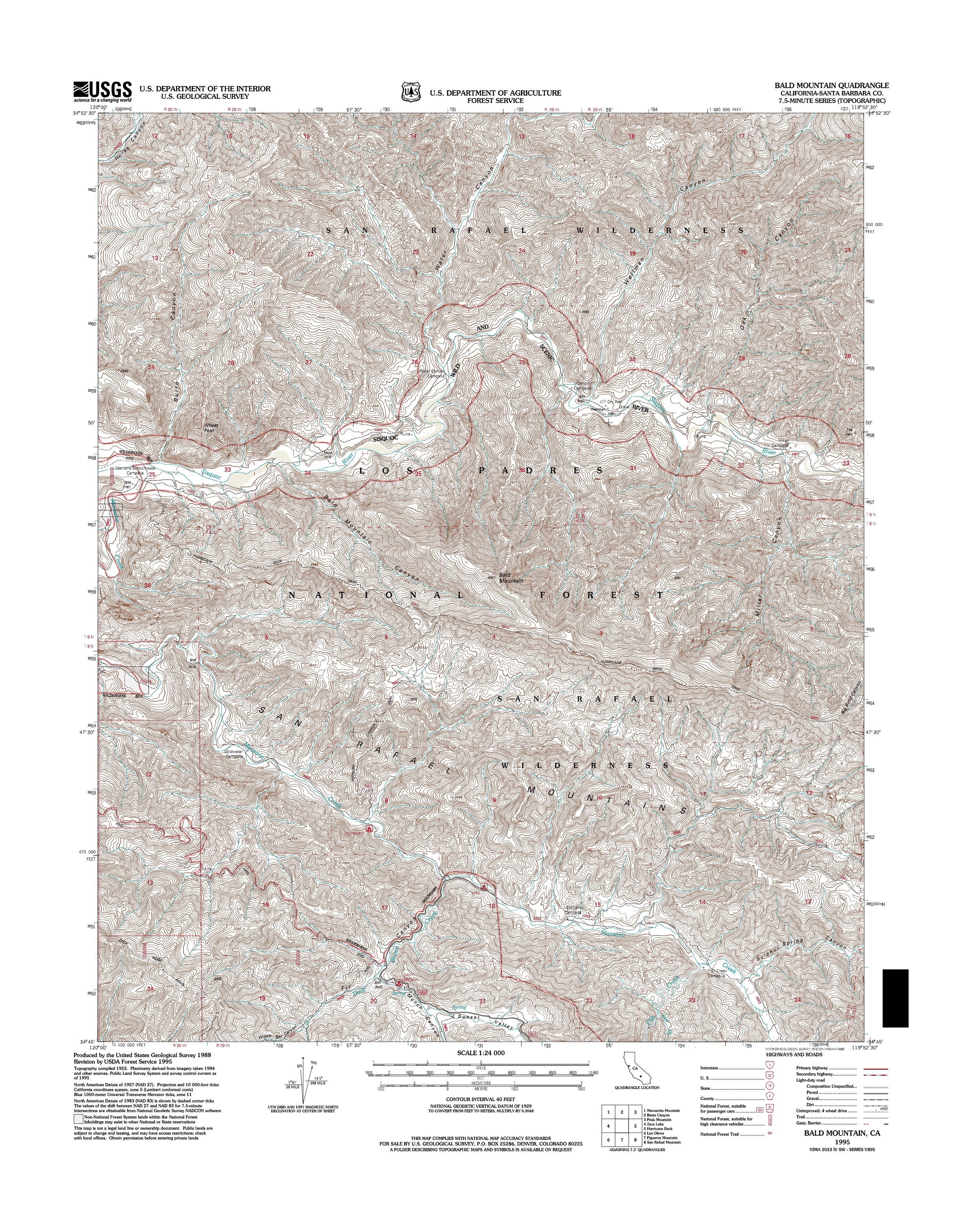 Bald Mountain Topography Map
