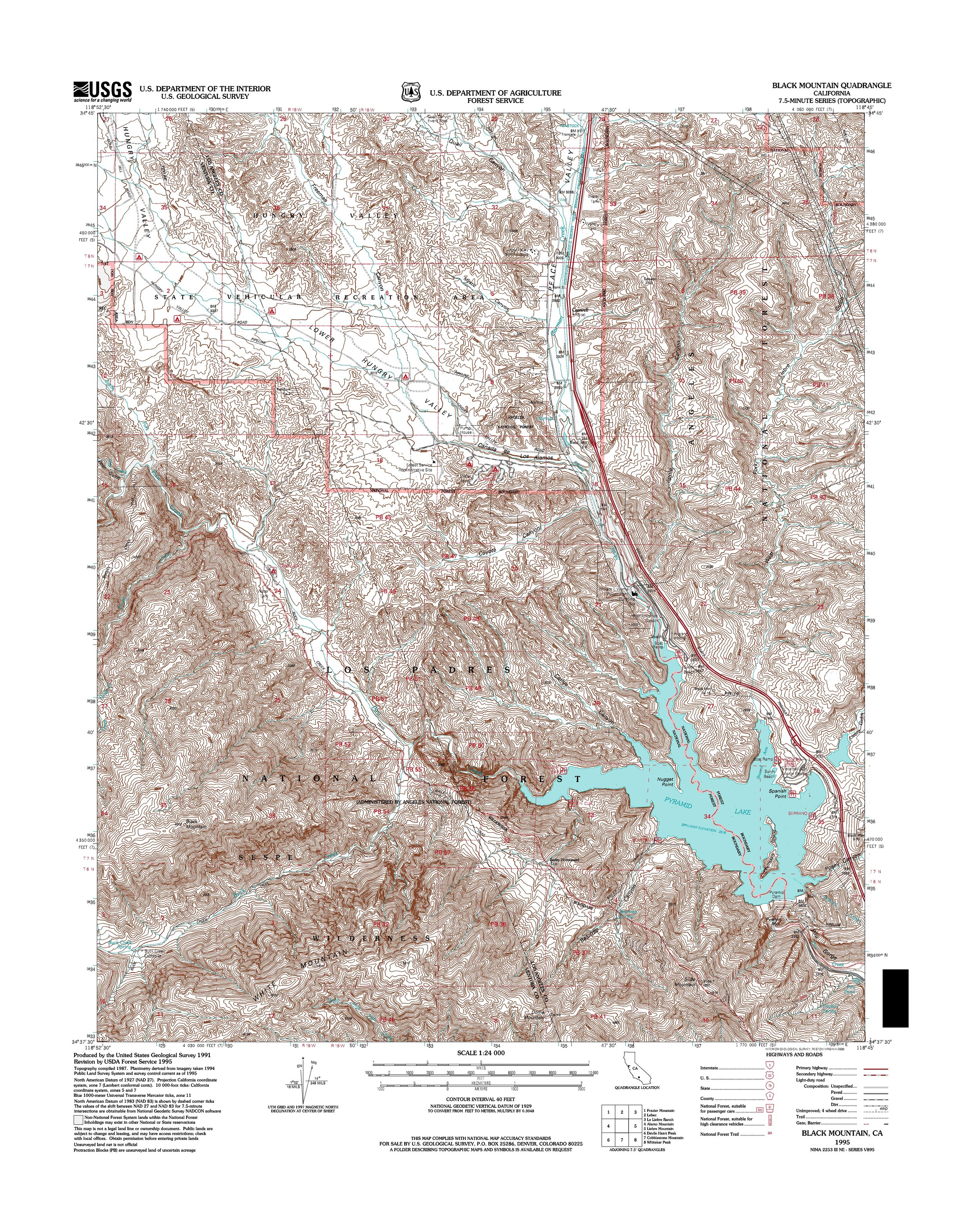 Black Mountain Topography Map