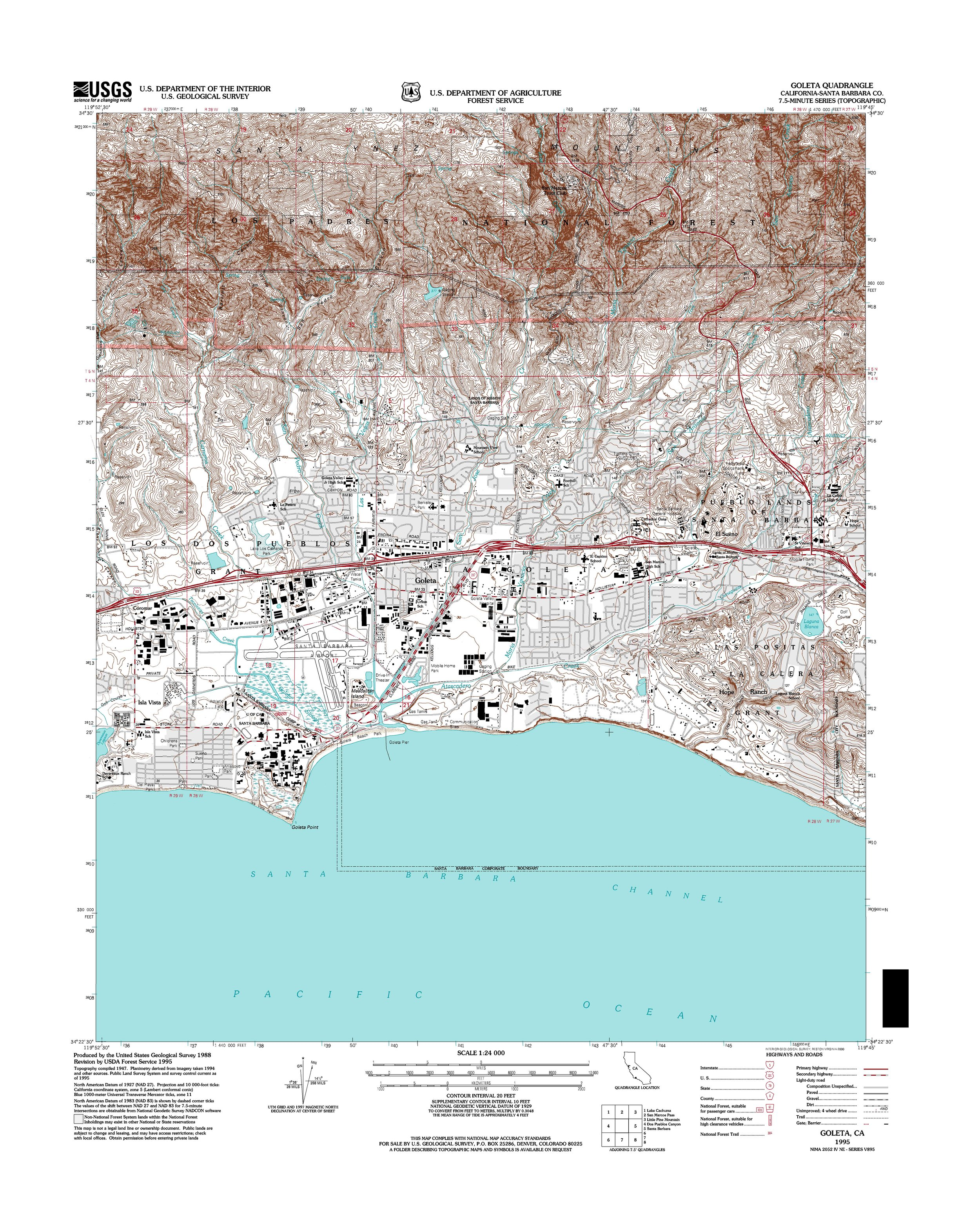 Goleta Topography Map