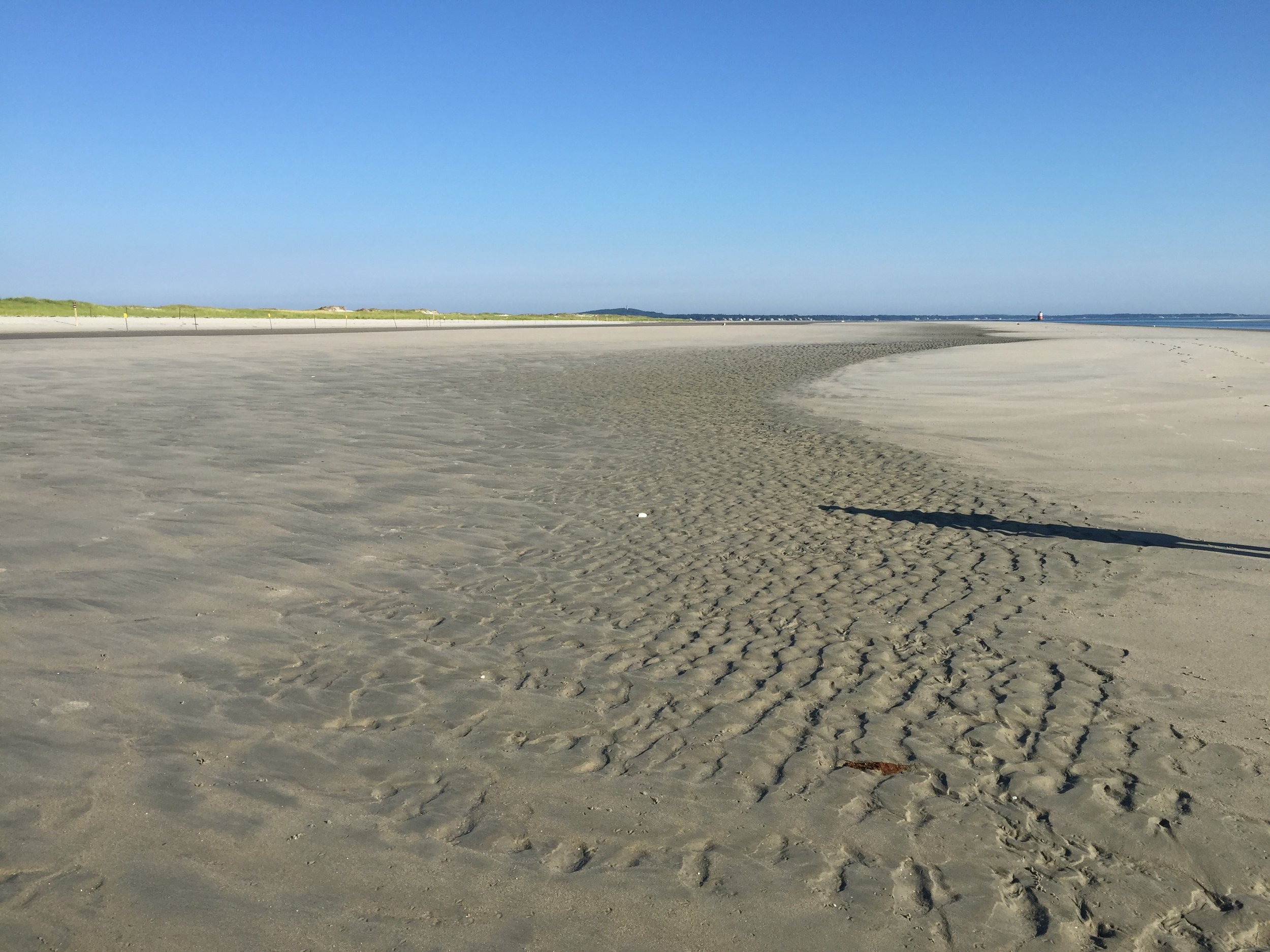 low tide sand patterns