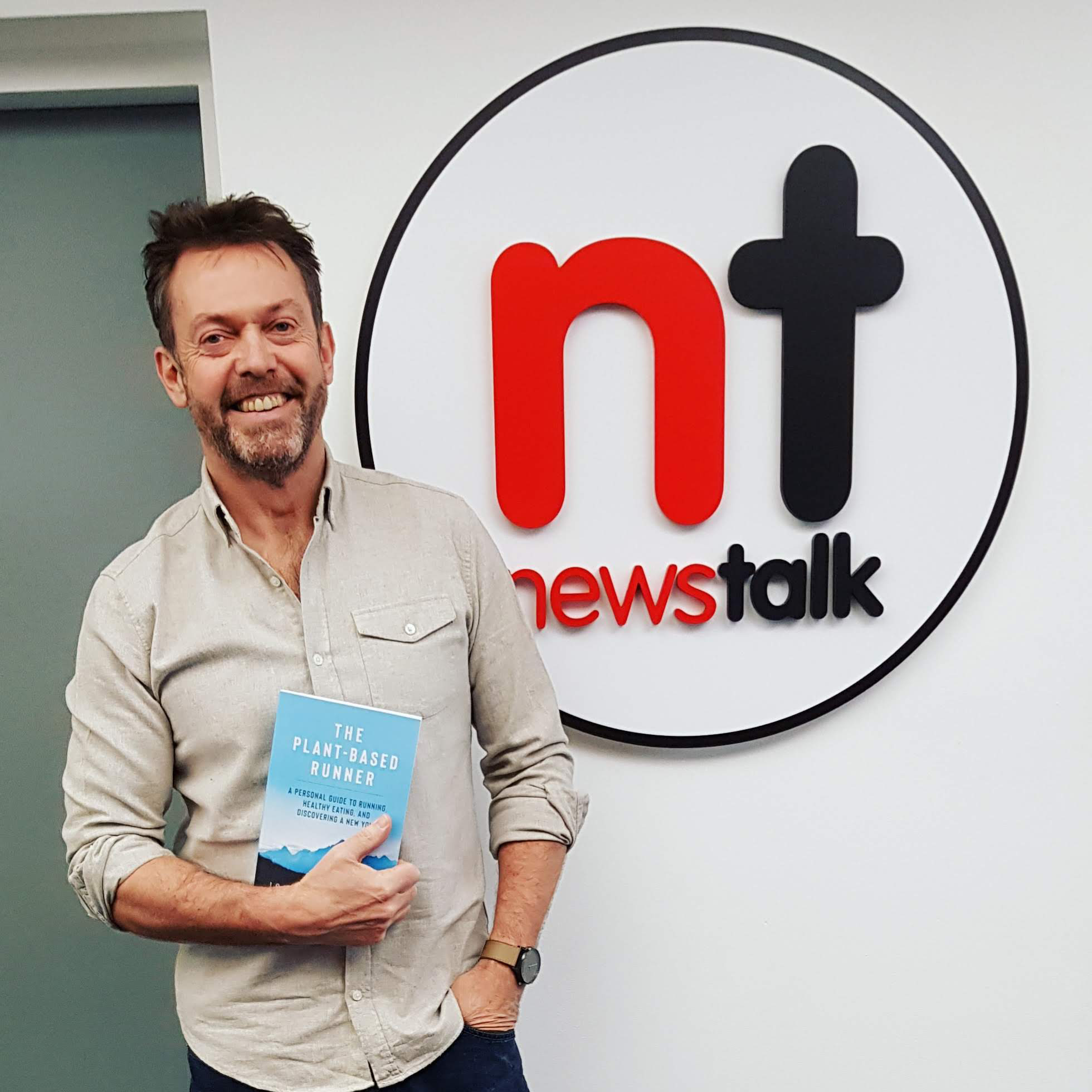 Jonathan before going on air with Ciara Kelly in the Newstalk studios