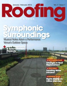 Porous Pave Case Study on the Cover of Roofing Magazine