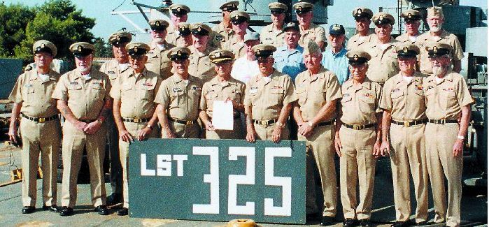 The crew of the LST-325 gathers for a group photograph prior to leaving Crete.  Photo by Joe Milakovich