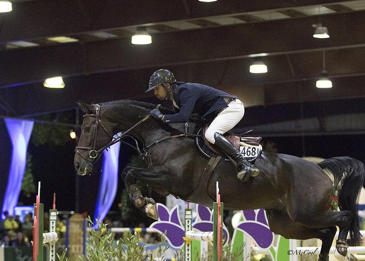 Nayel riding Lucifer V - Sacramento International