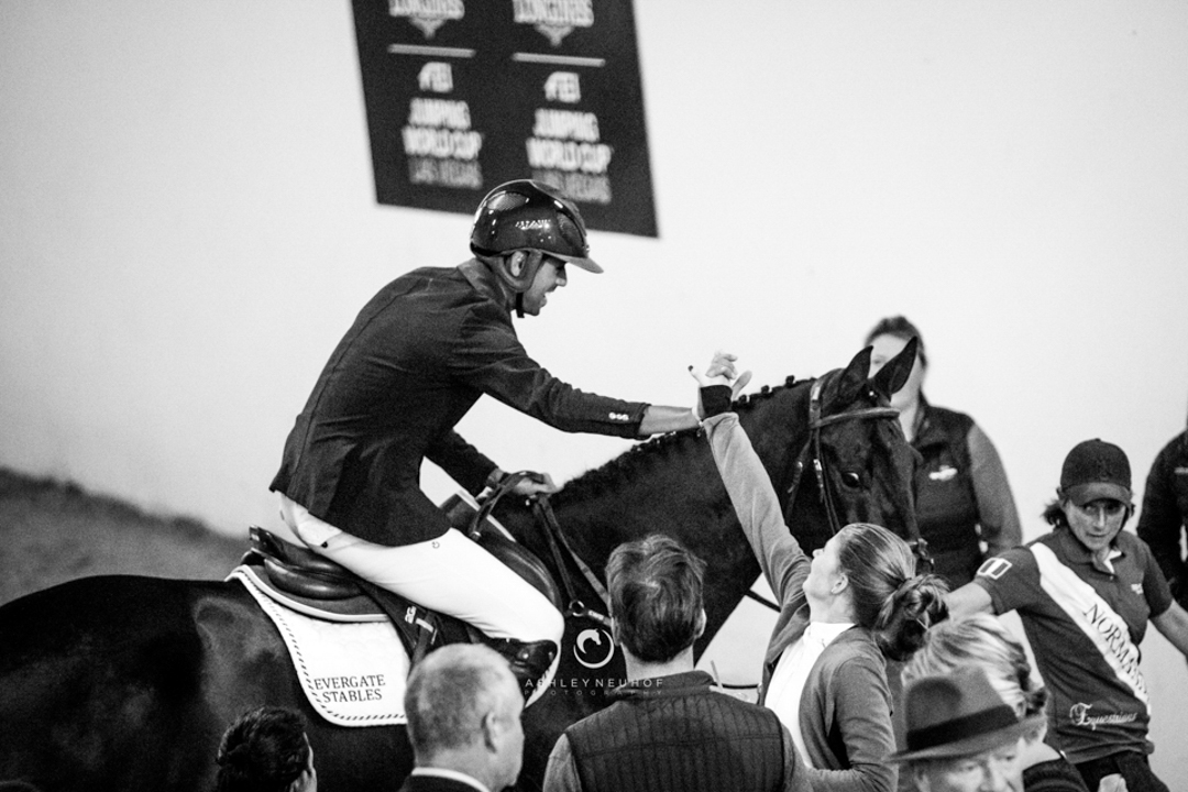 Nayel Nassar and Lucifer V at the Las Vegas National Horse Show. Photo by Ashley Neuhof Photography.