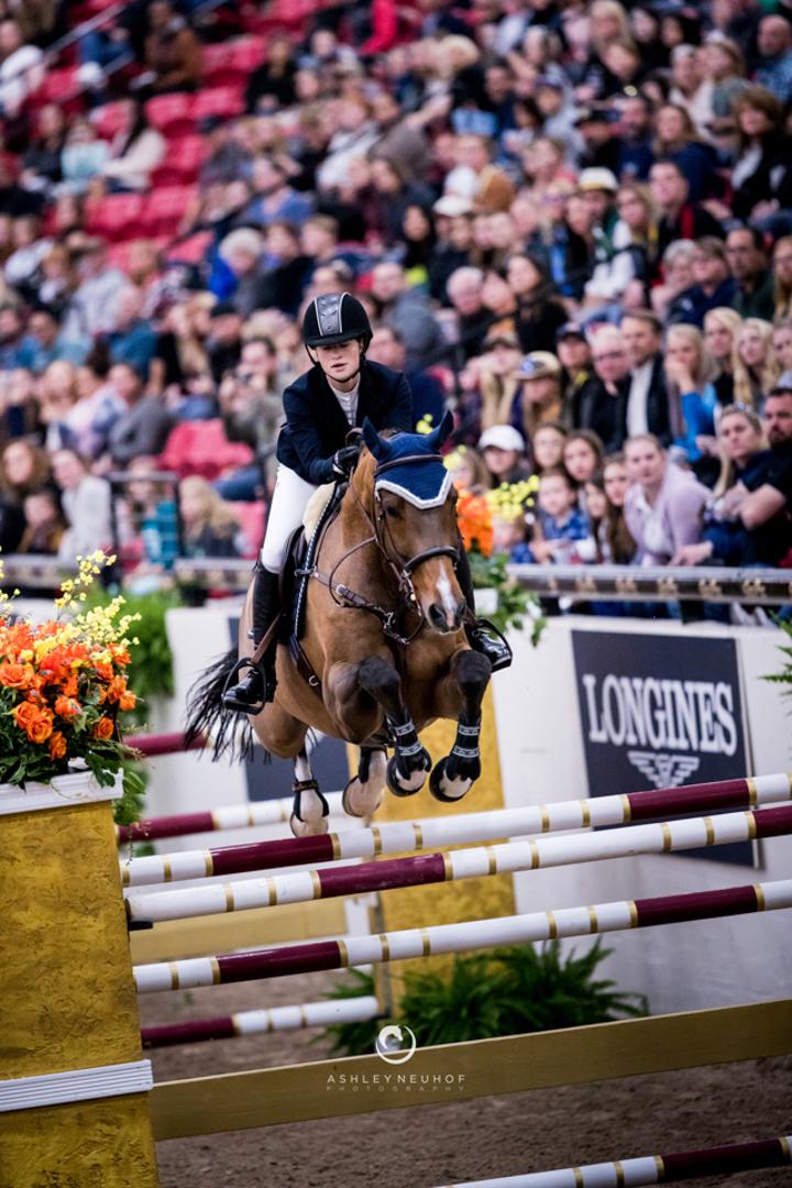 Jenn Gates and Monaco at the Las Vegas National Horse Show. Photo by Ashley Neuhof Photography.