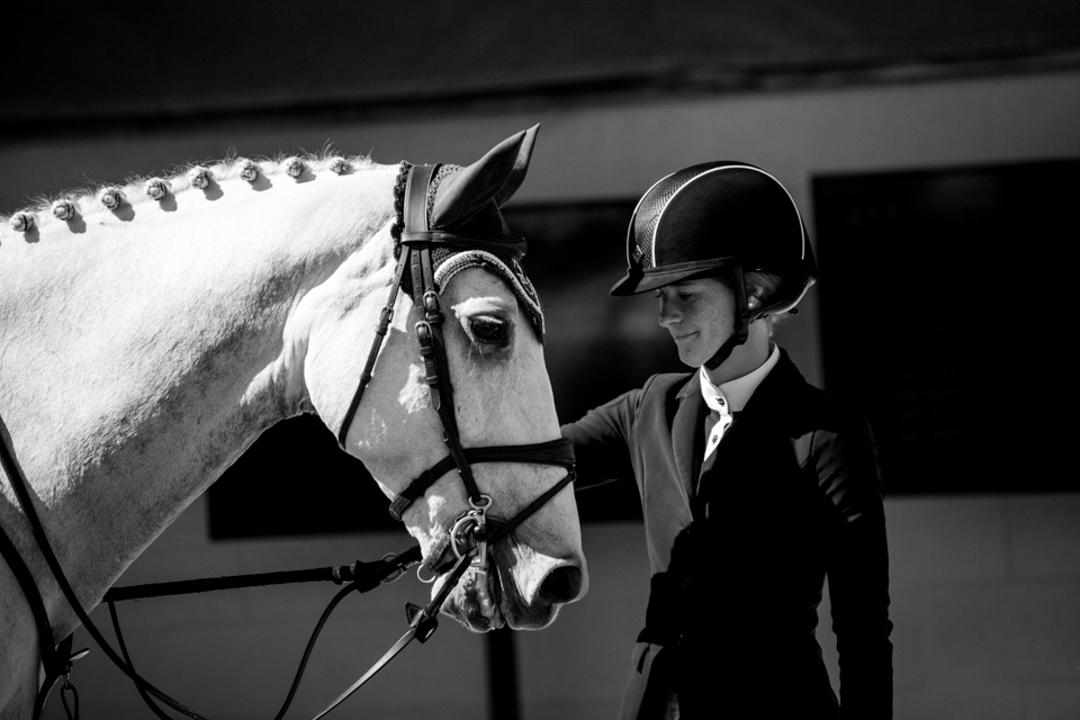 Jenn Gates and Luftikus S at the Del Mar International Horse Show. Photo by Ashley Neuhof Photography.