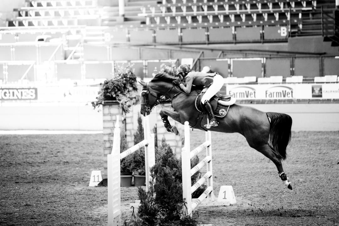 Sayre Happy and Lorena 141 at the Del Mar International Horse Show. Photo by Ashley Neuhof Photography.