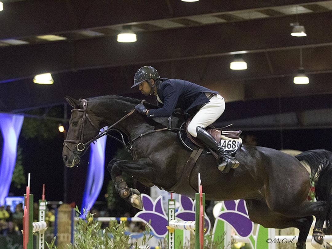 Nayel Nassar and Lucifer V at the Sacramento International Horse Show. Photo by McCool Photos.