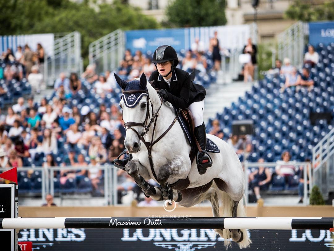 Jenn Gates and Luftikus S at 2018 Global Champions Tour of Paris. Photo by Ashley Neuhof Photography.